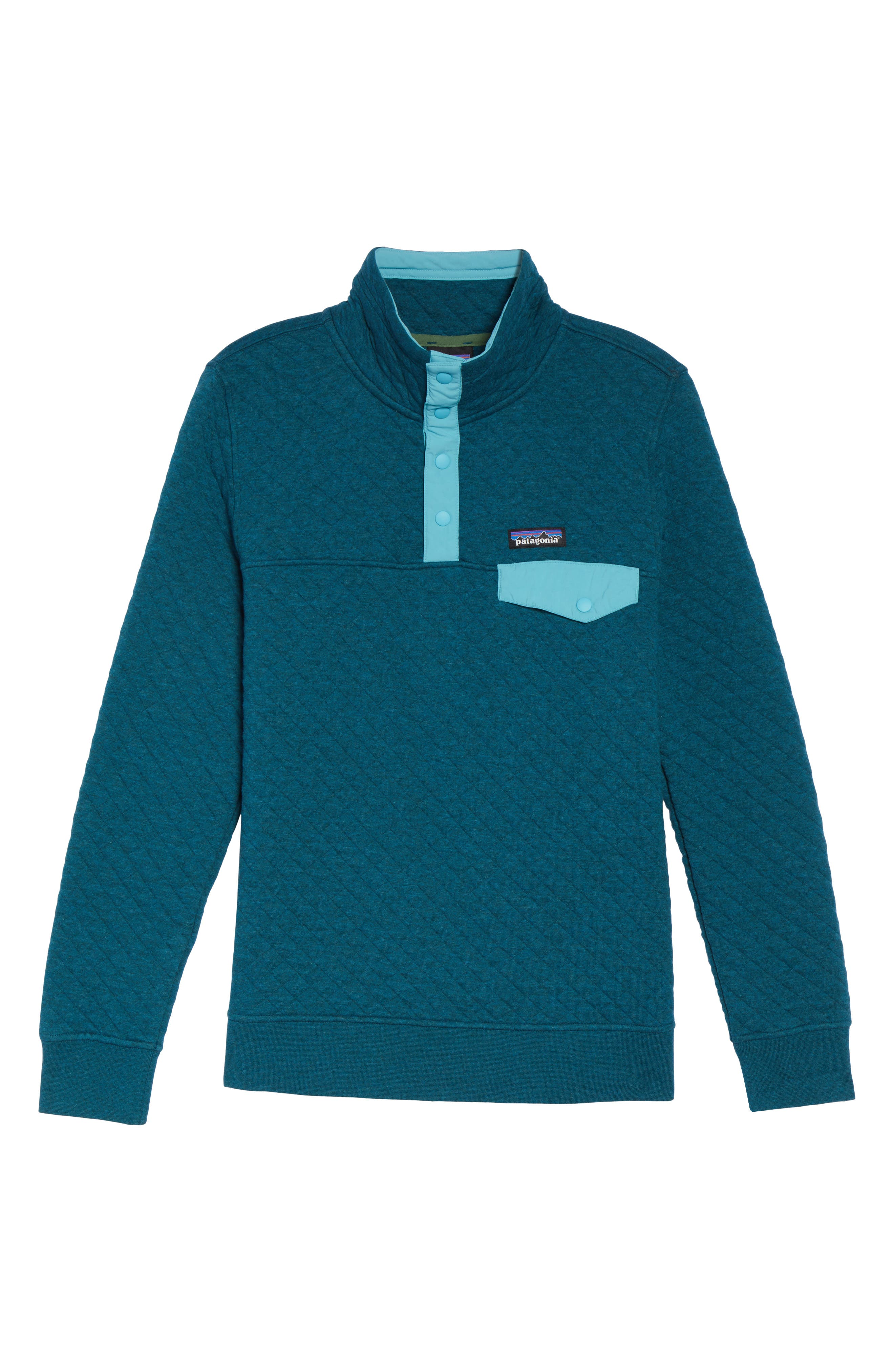 Snap-T<sup>®</sup> Quilted Pullover,                         Main,                         color, Elwha Blue