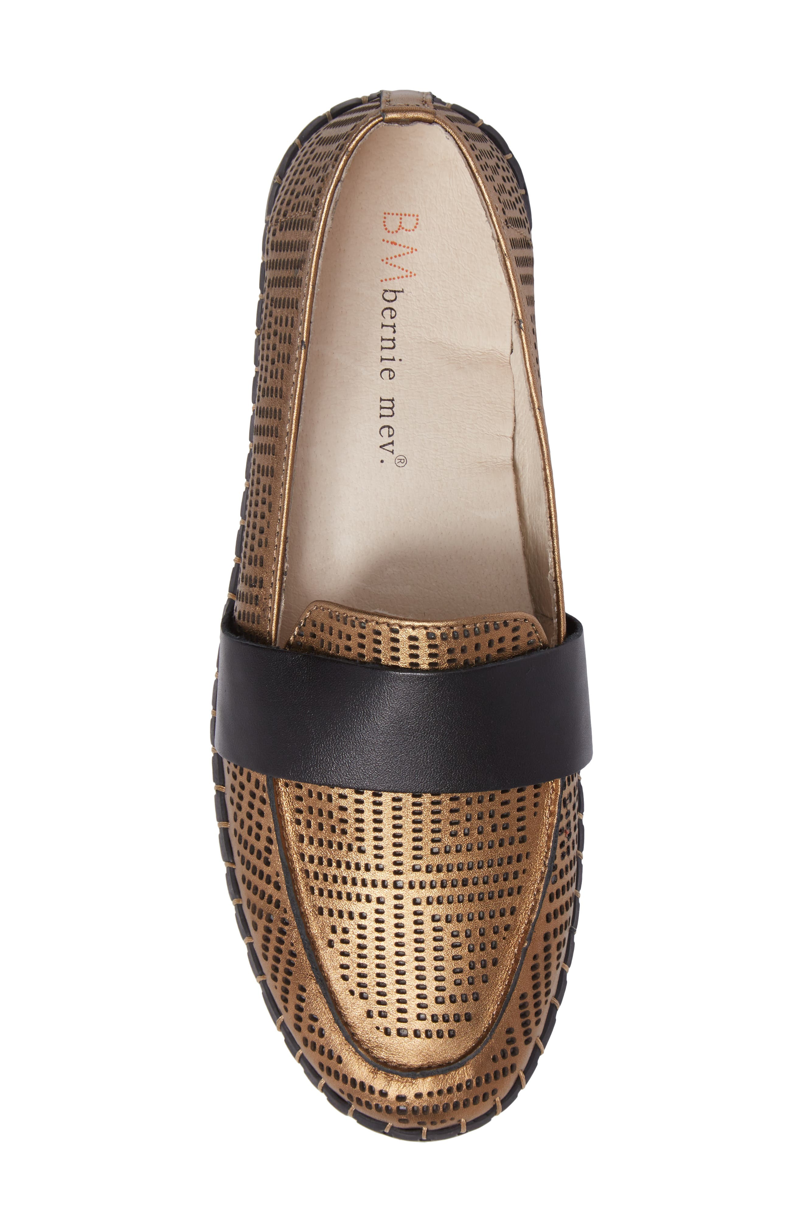 TW74 Perforated Flat,                             Alternate thumbnail 5, color,                             Bronze Leather