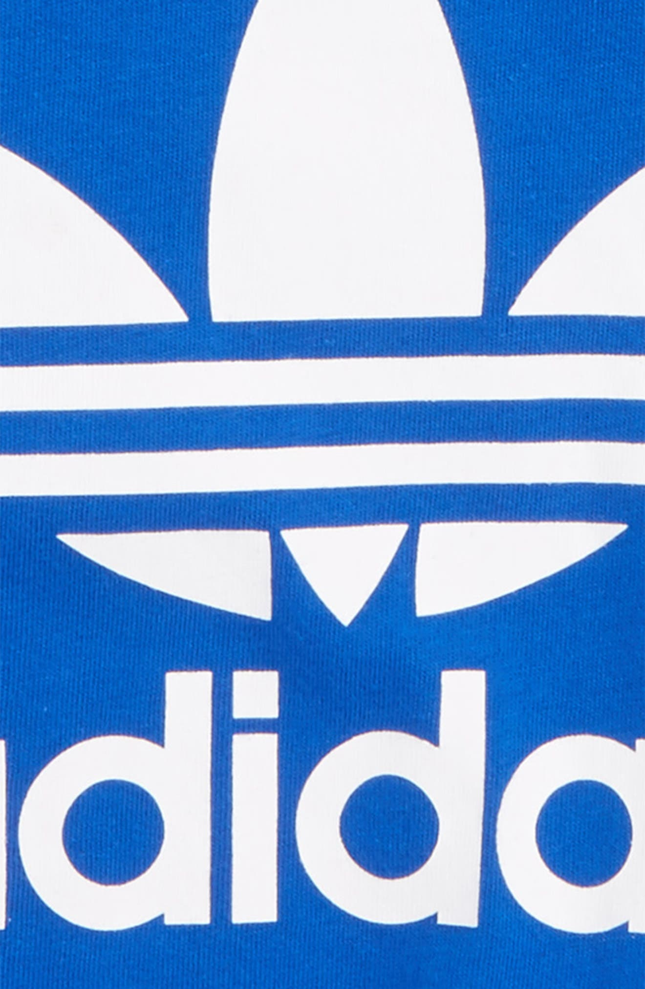 Originals Trefoil Logo T-Shirt,                             Alternate thumbnail 2, color,                             Blue. White