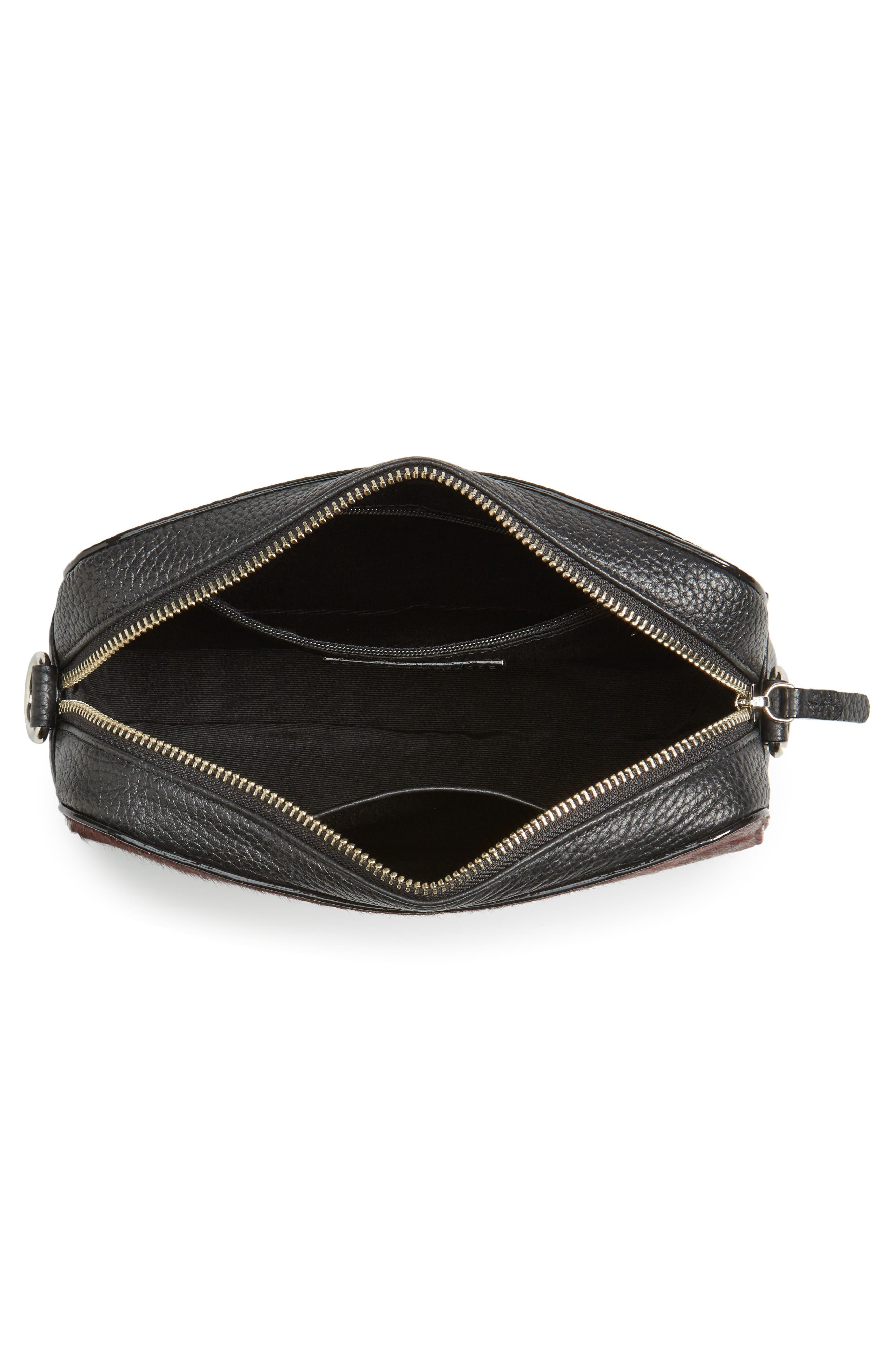 Alternate Image 3  - Nordstrom Ella Leather & Genuine Calf Hair Crossbody Bag