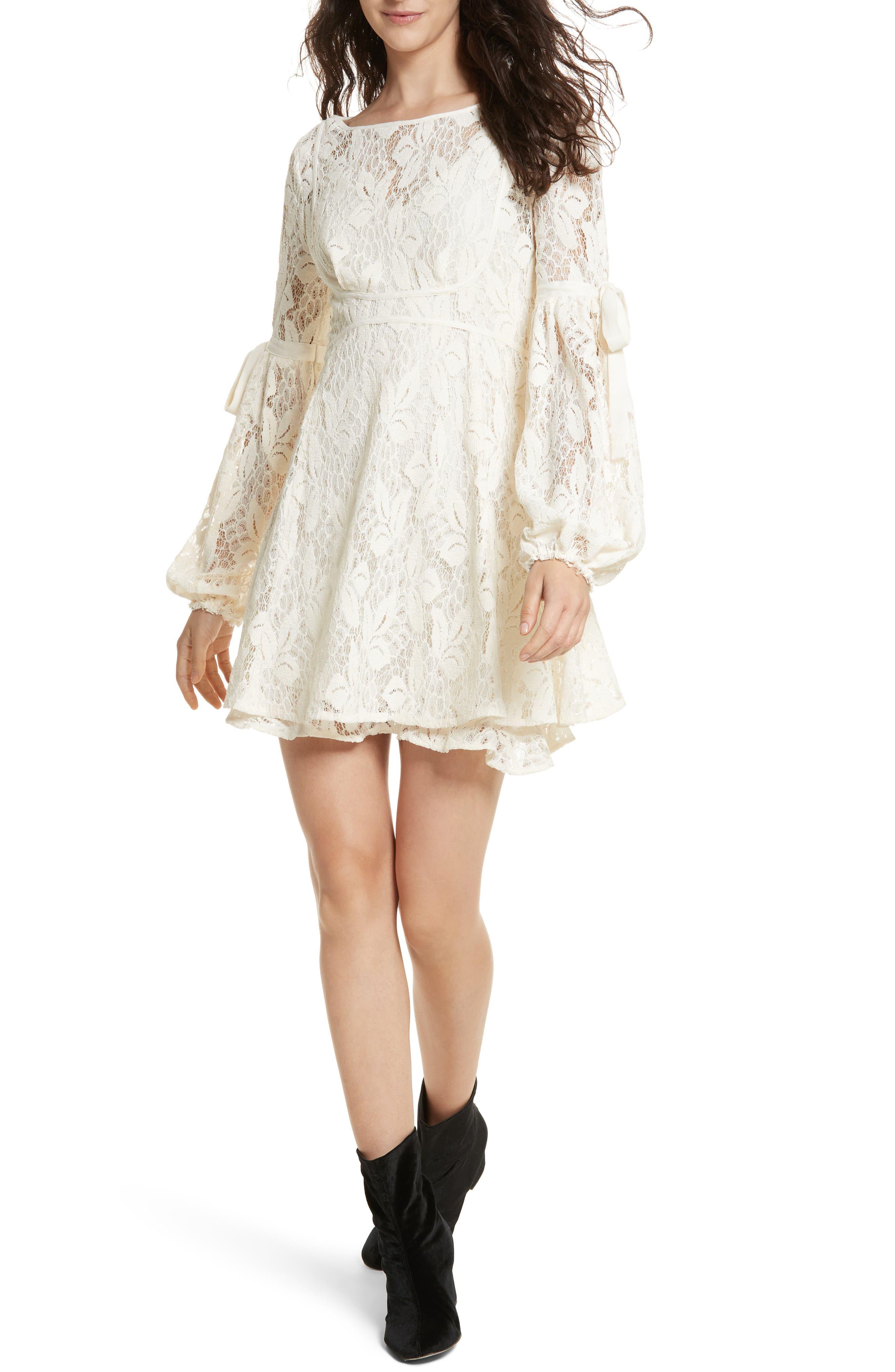 Free People Rubi Lace Mini Dress