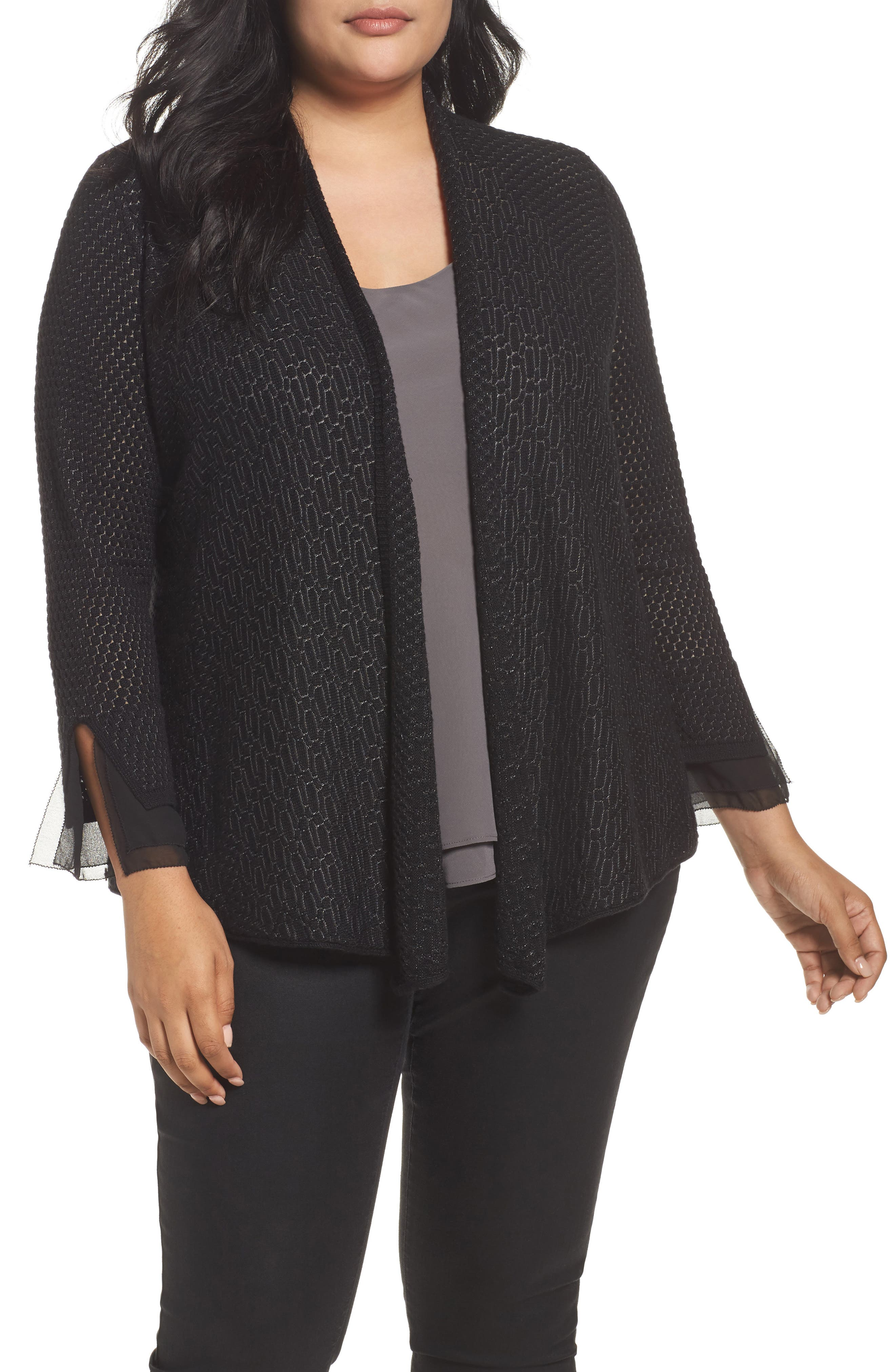 NIC+ZOE Magnificence Cardigan (Plus Size)