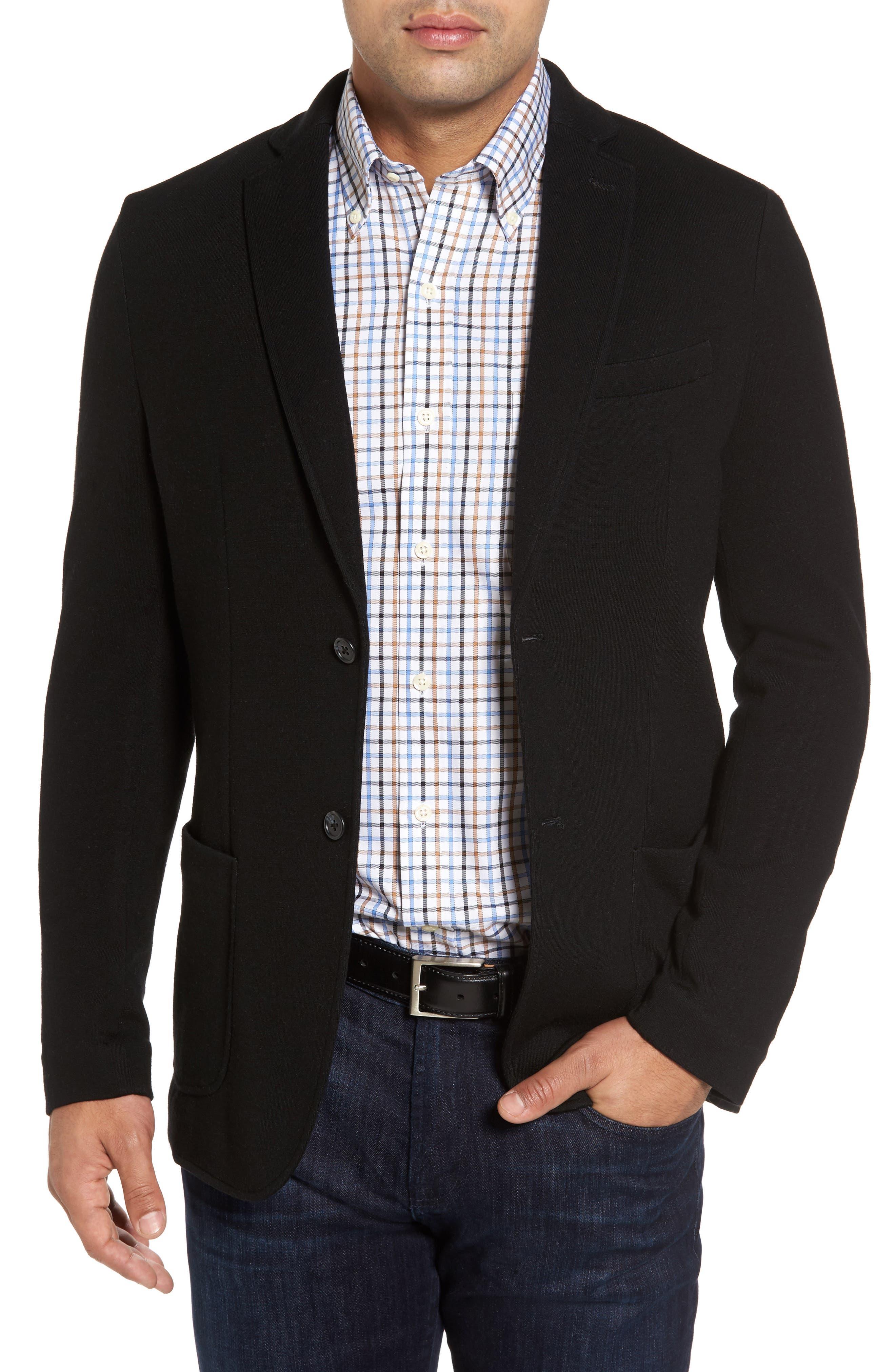 Crown Classic Fit Blazer,                         Main,                         color, Black