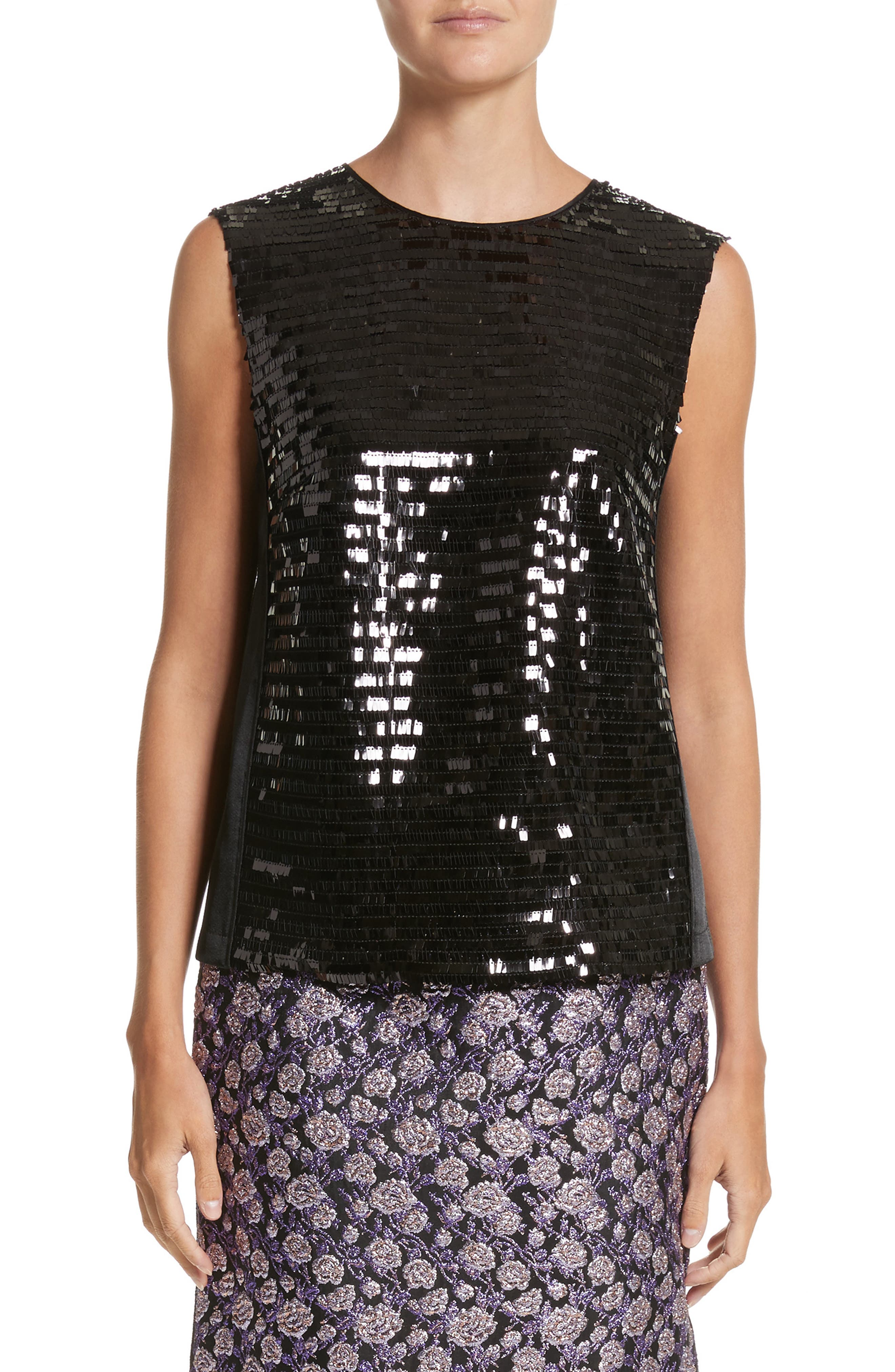 Sequin Shell,                         Main,                         color, Black