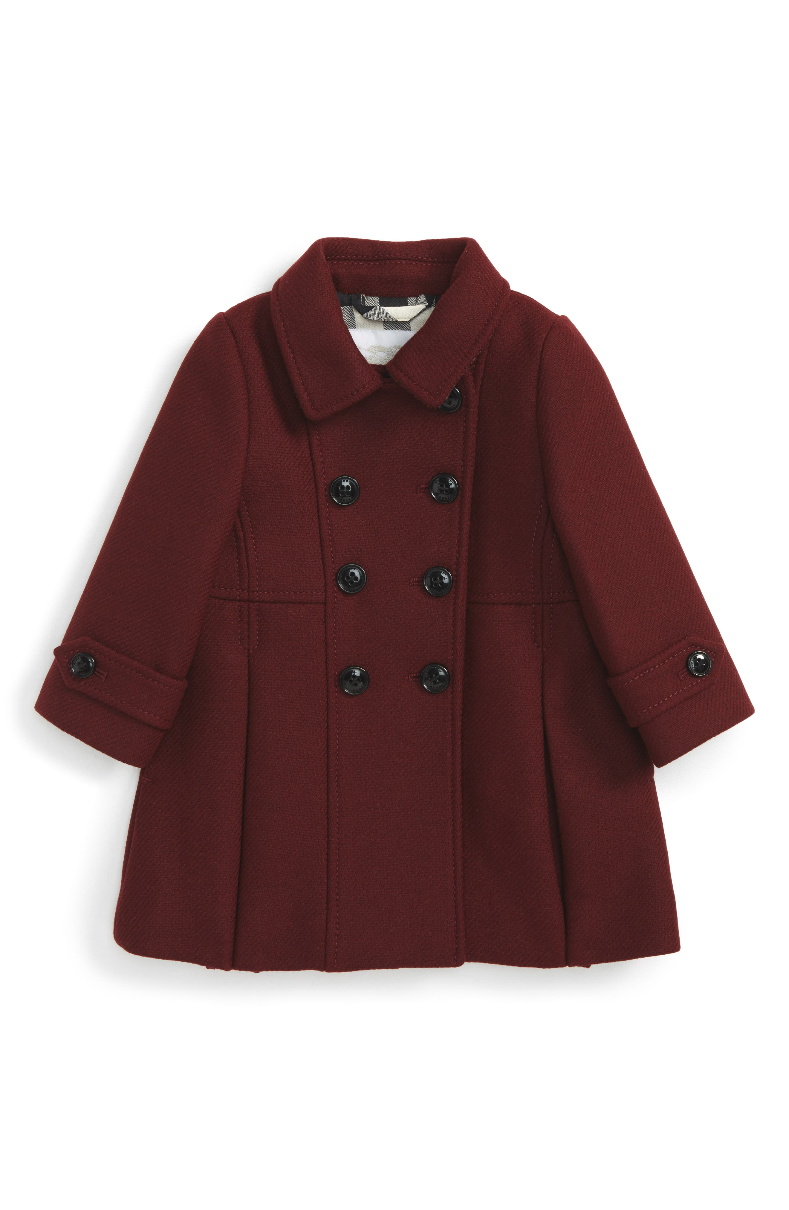 Burberry Mini Frieda Wool Blend Peacoat (Baby Girls)