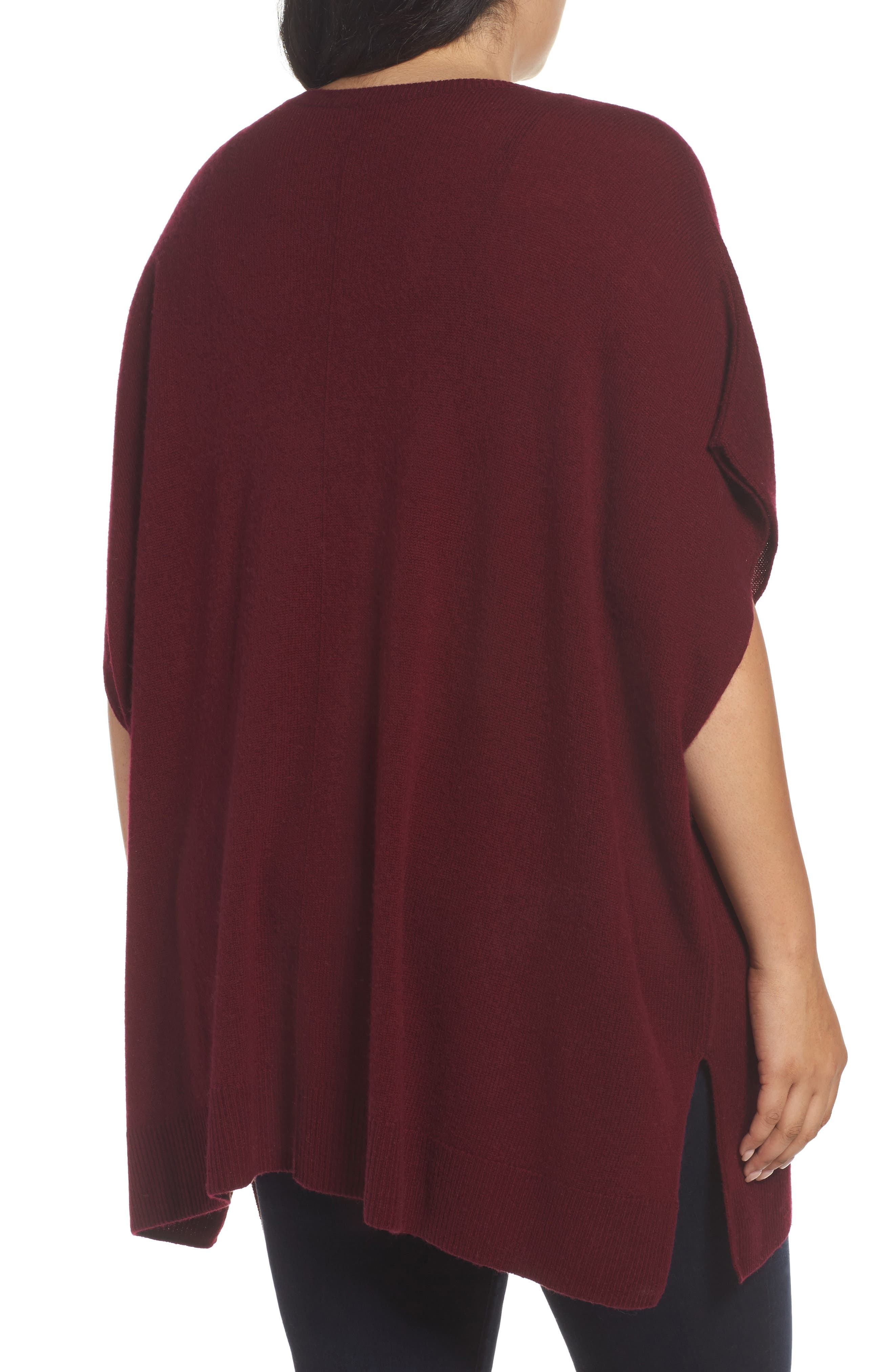 Alternate Image 2  - Sejour Ribbed Pocket Poncho (Plus Size)
