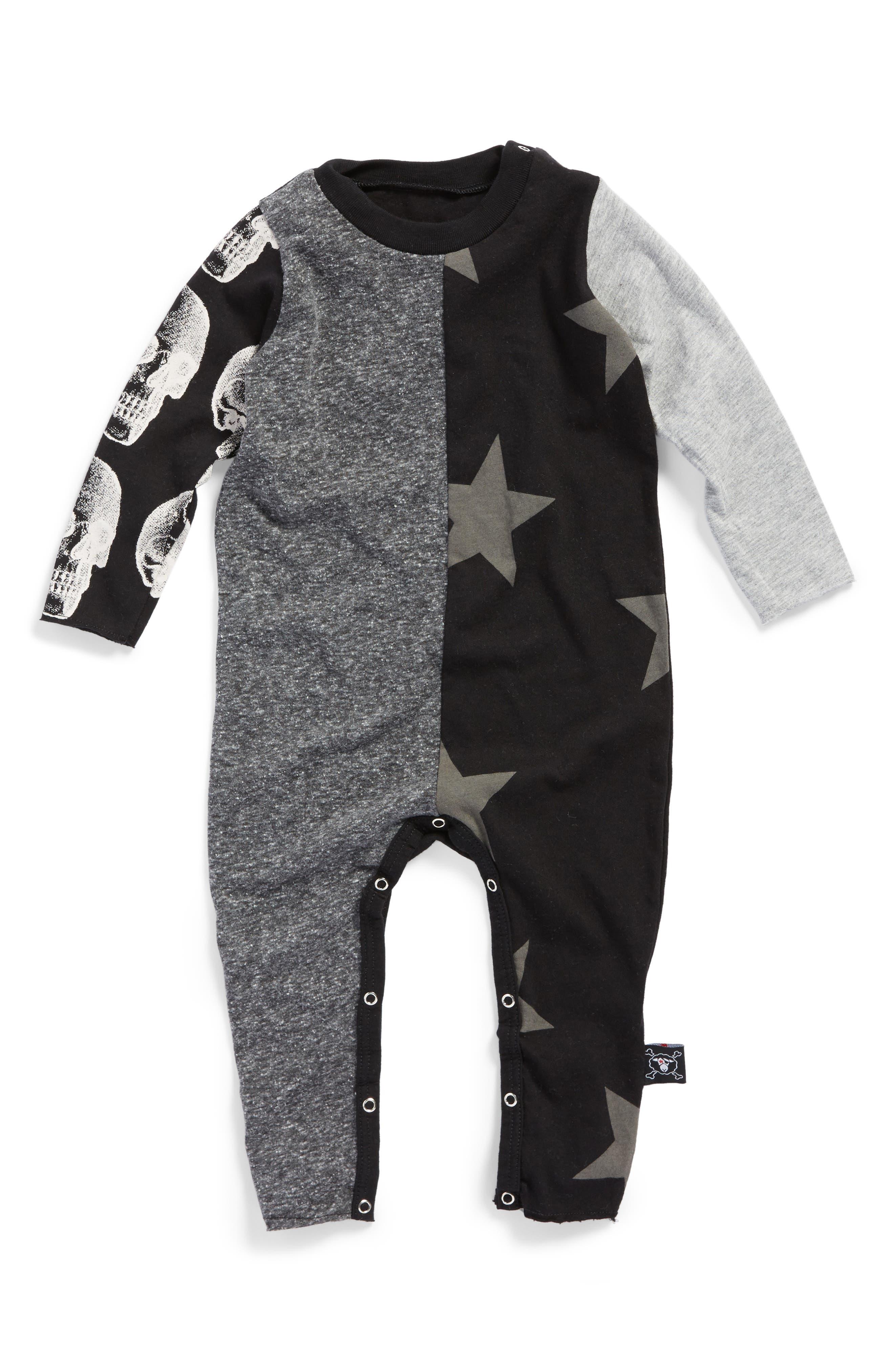 Print Playsuit,                         Main,                         color, Black Charcoal