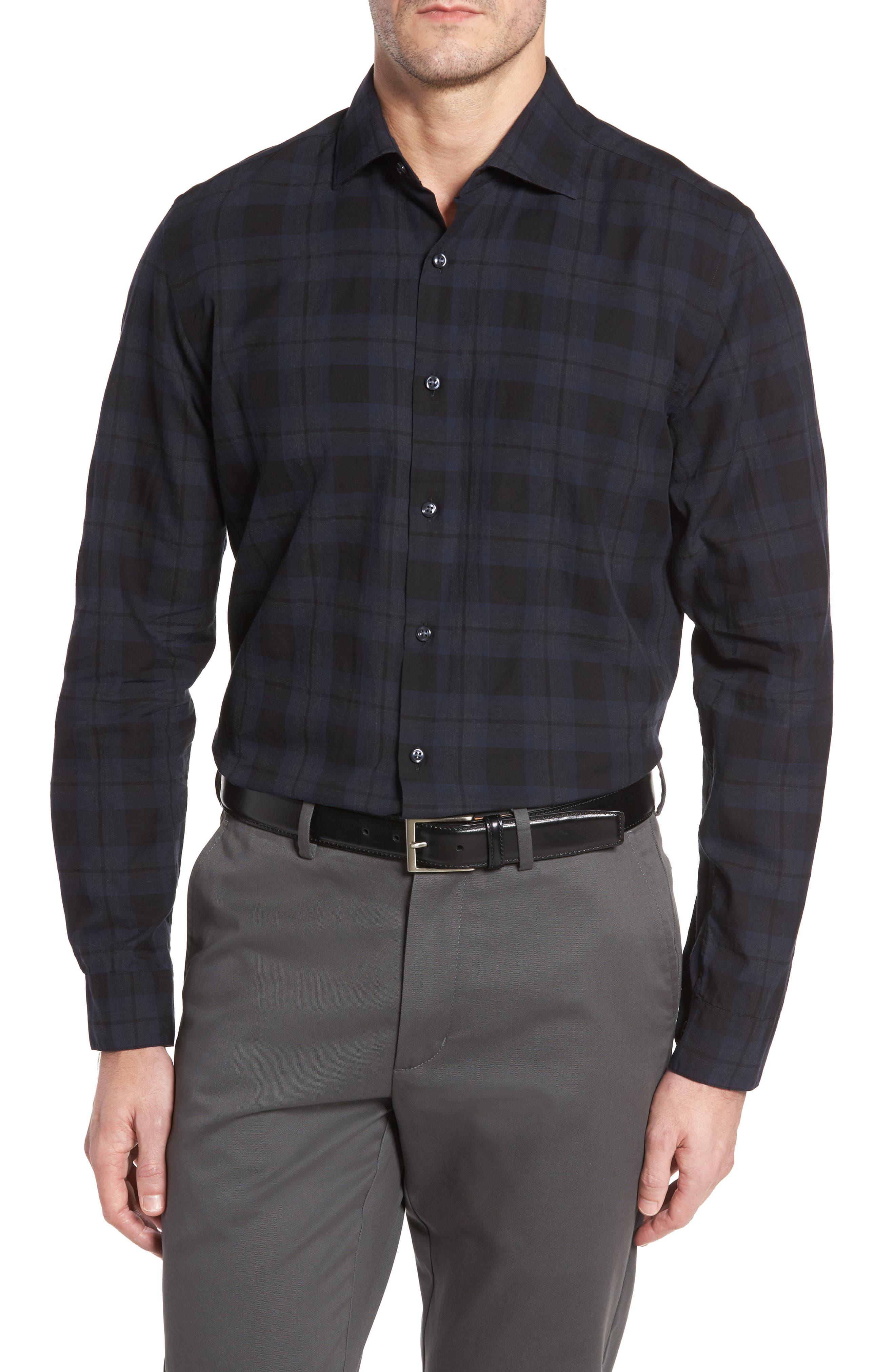Robert Barakett Minnesota Check Sport Shirt