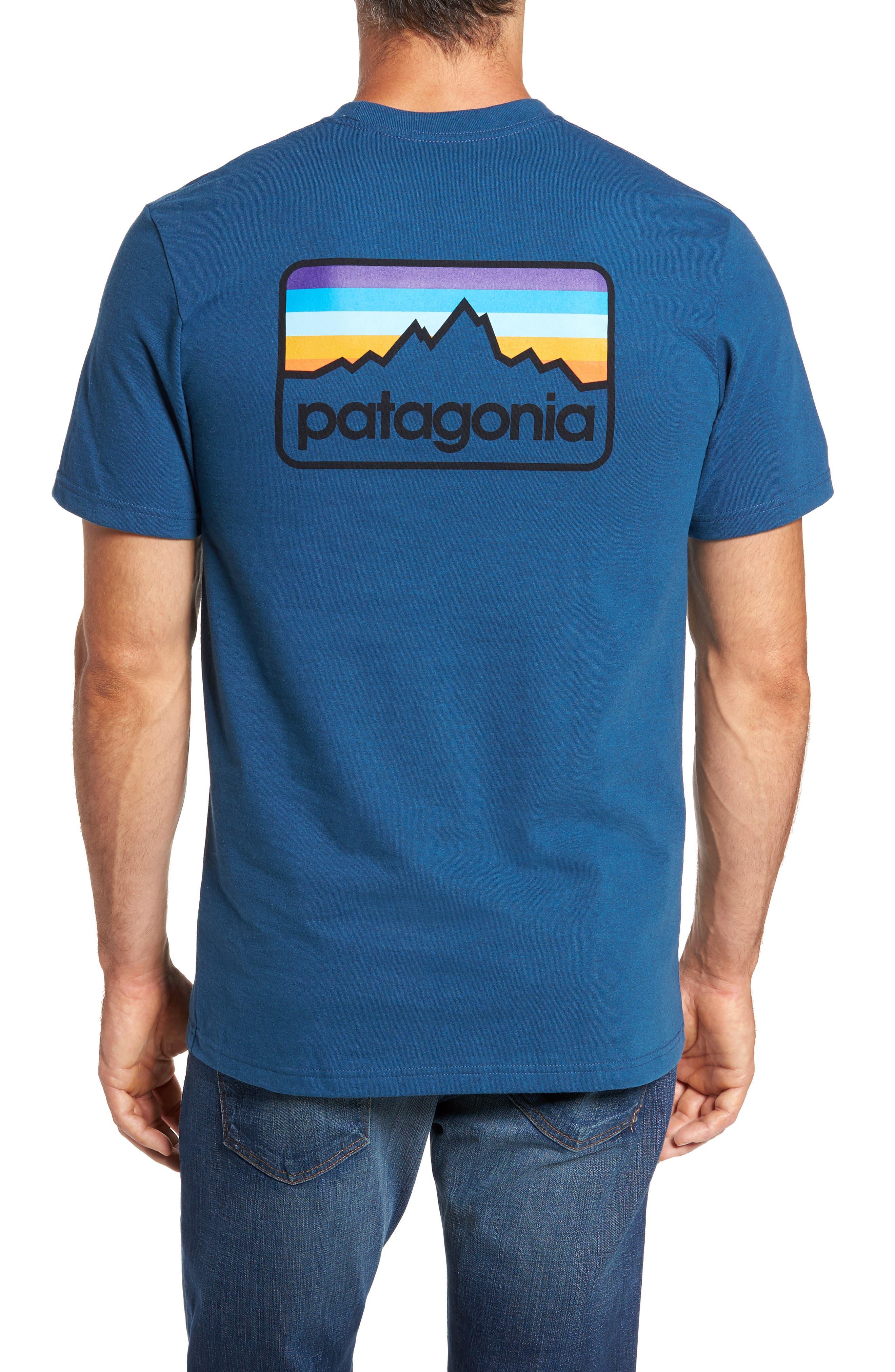 Line Regular Fit Logo T-Shirt,                             Alternate thumbnail 2, color,                             Glass Blue