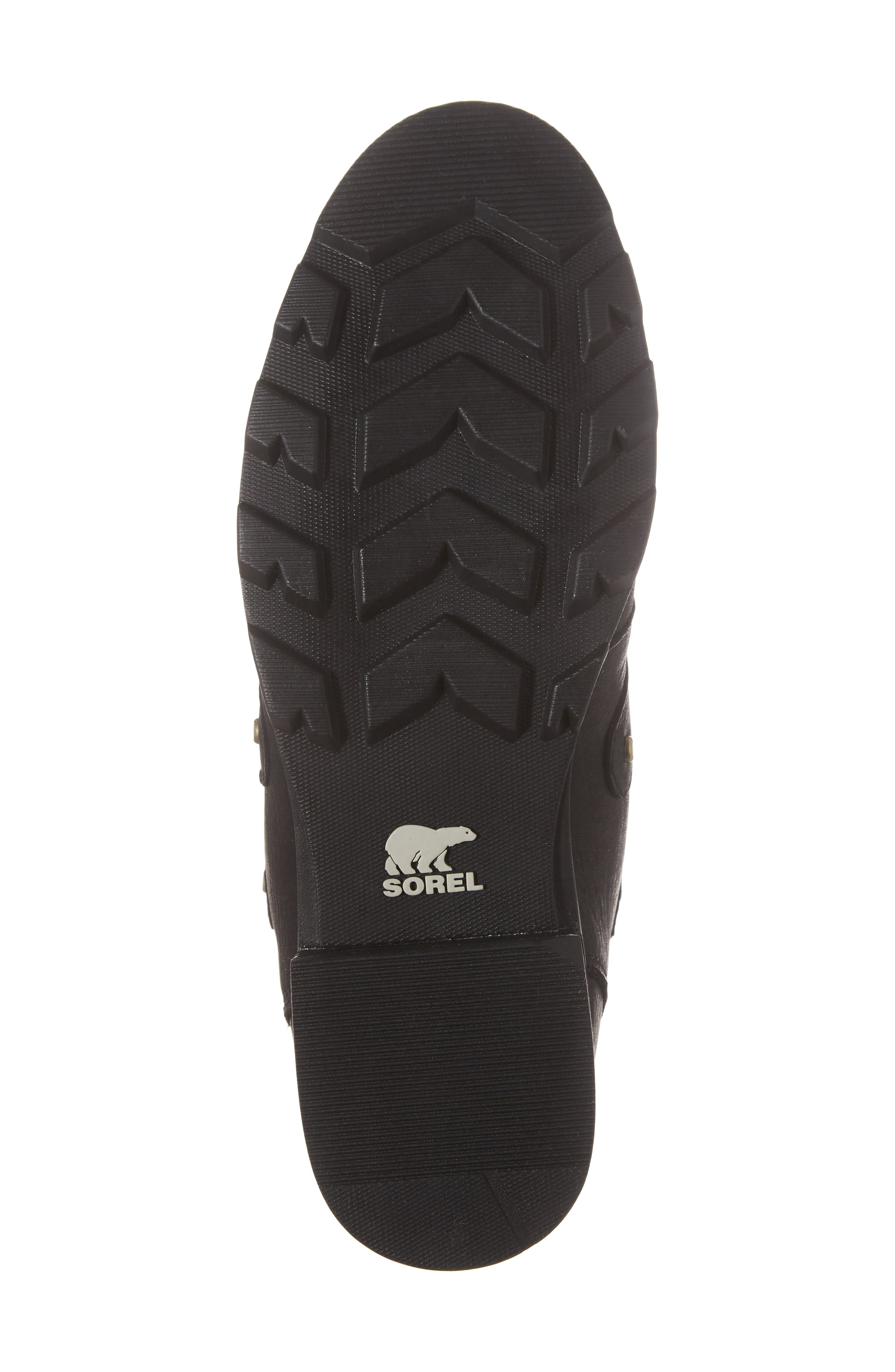 Emelie Waterproof Lace Up Boot with Faux Fur Trim,                             Alternate thumbnail 6, color,                             Black