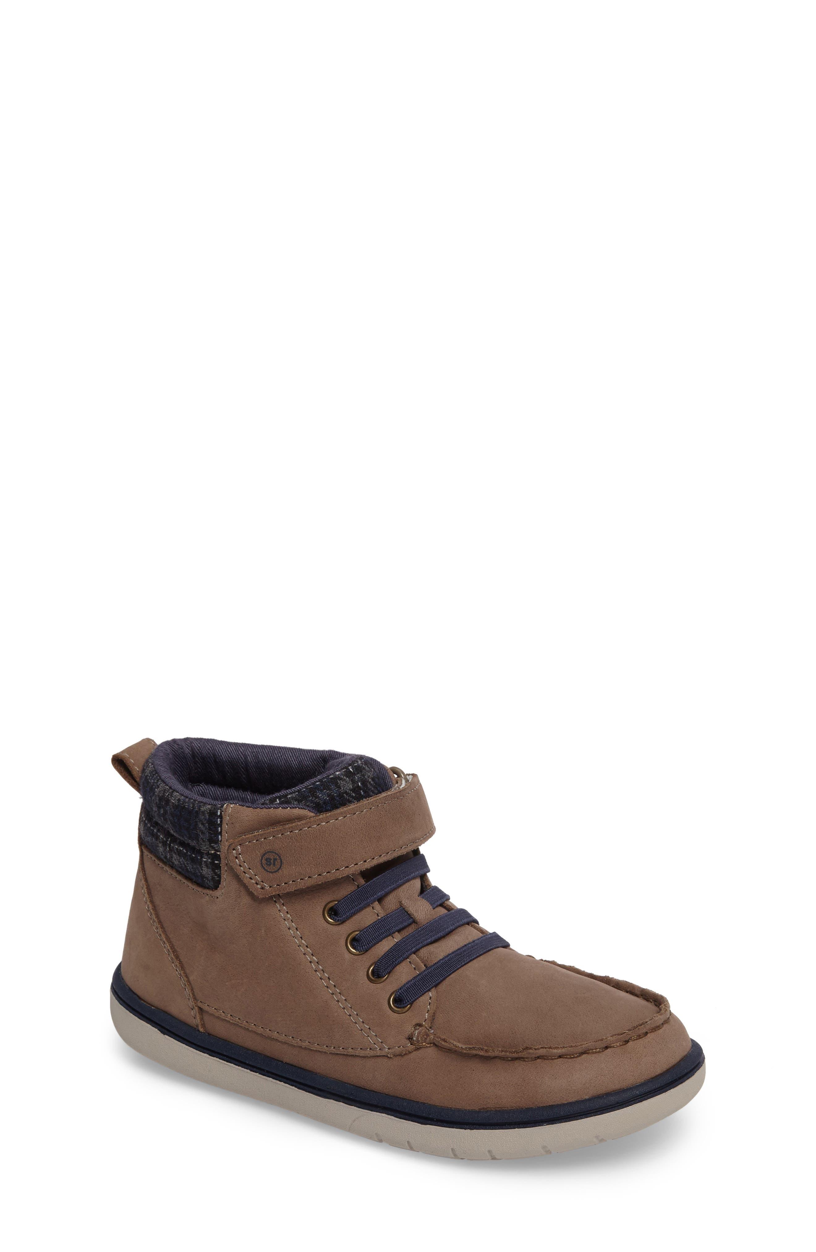 SRtech<sup>™</sup> Langston Bootie,                             Main thumbnail 1, color,                             Greige Leather