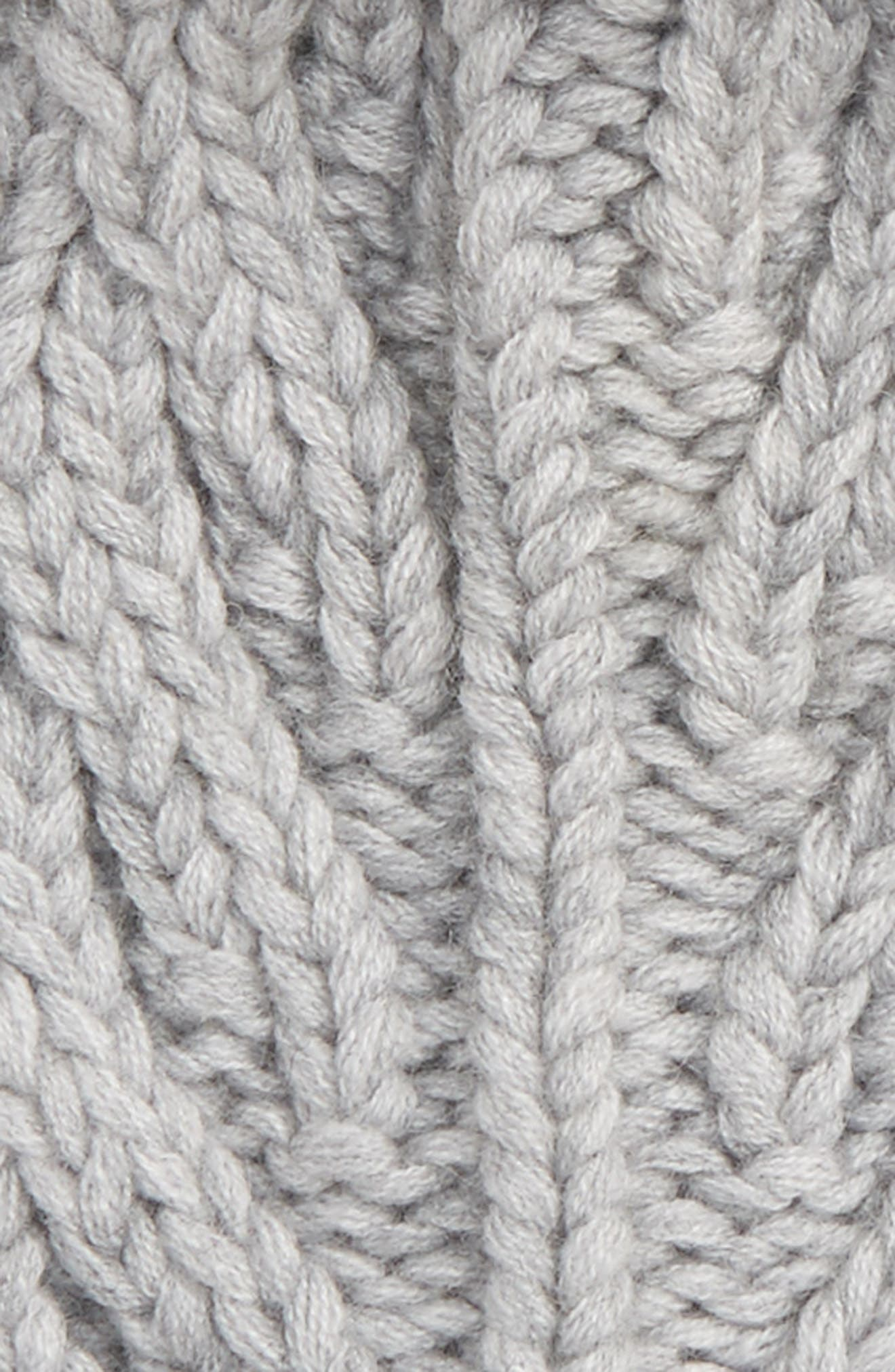 Alternate Image 2  - UGG® Cable Knit Cuff Hat with Genuine Shearling Pom