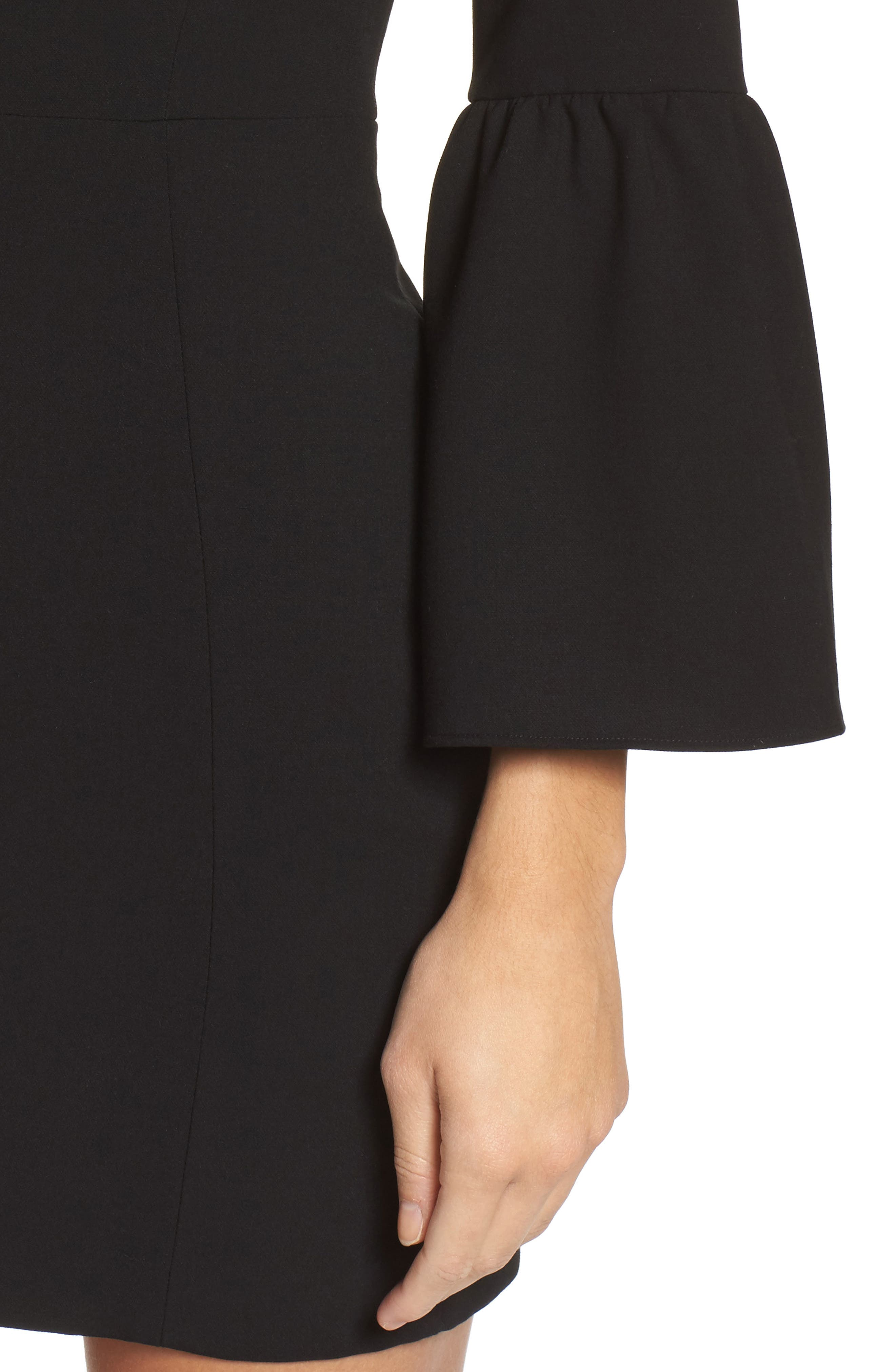 Alternate Image 4  - French Connection Whisper Ruth Bell Sleeve Sheath Dress