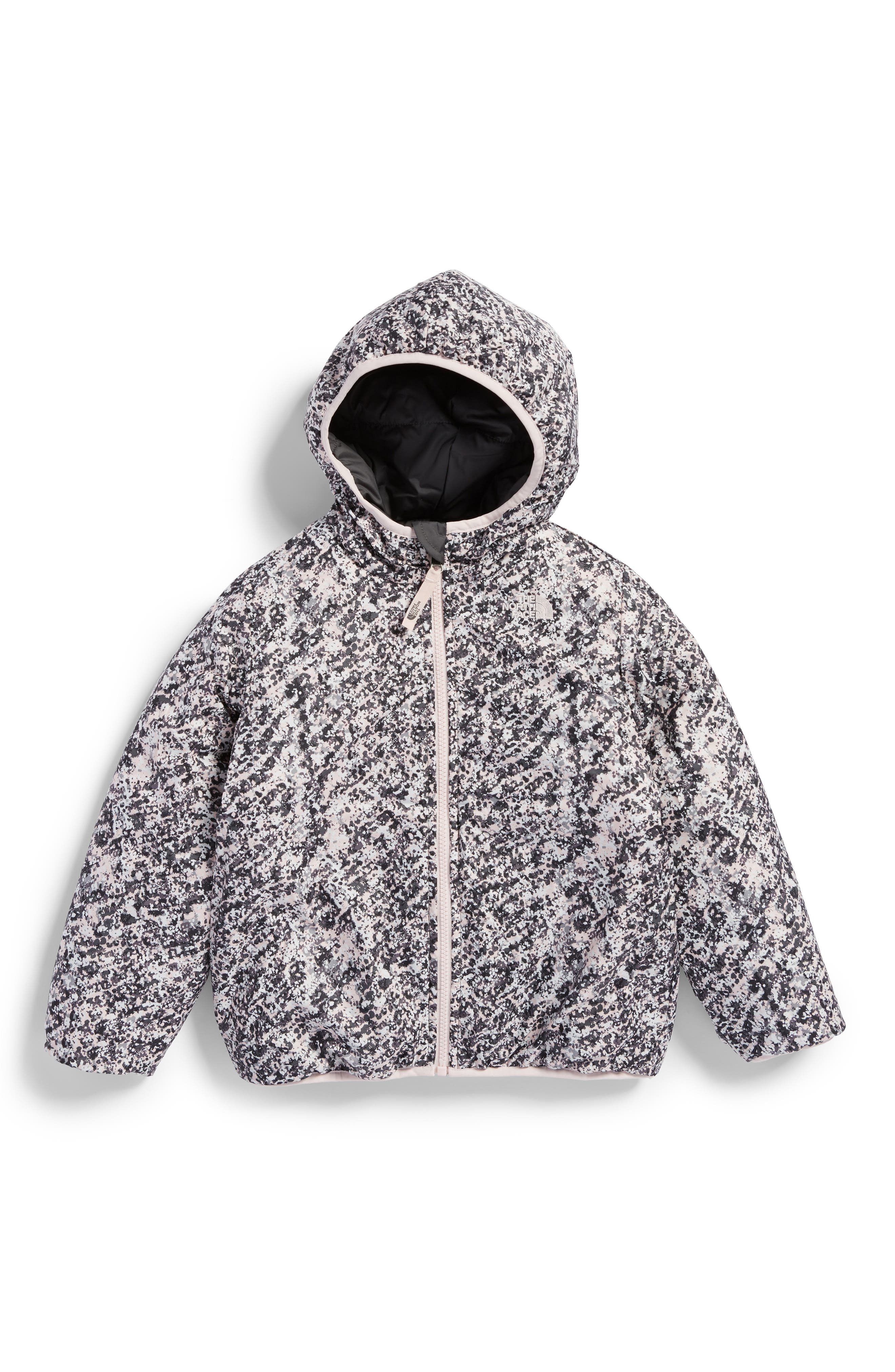 Main Image - The North Face Perrito Reversible Water-Repellent Hooded Jacket (Toddler Girls & Little Girls)