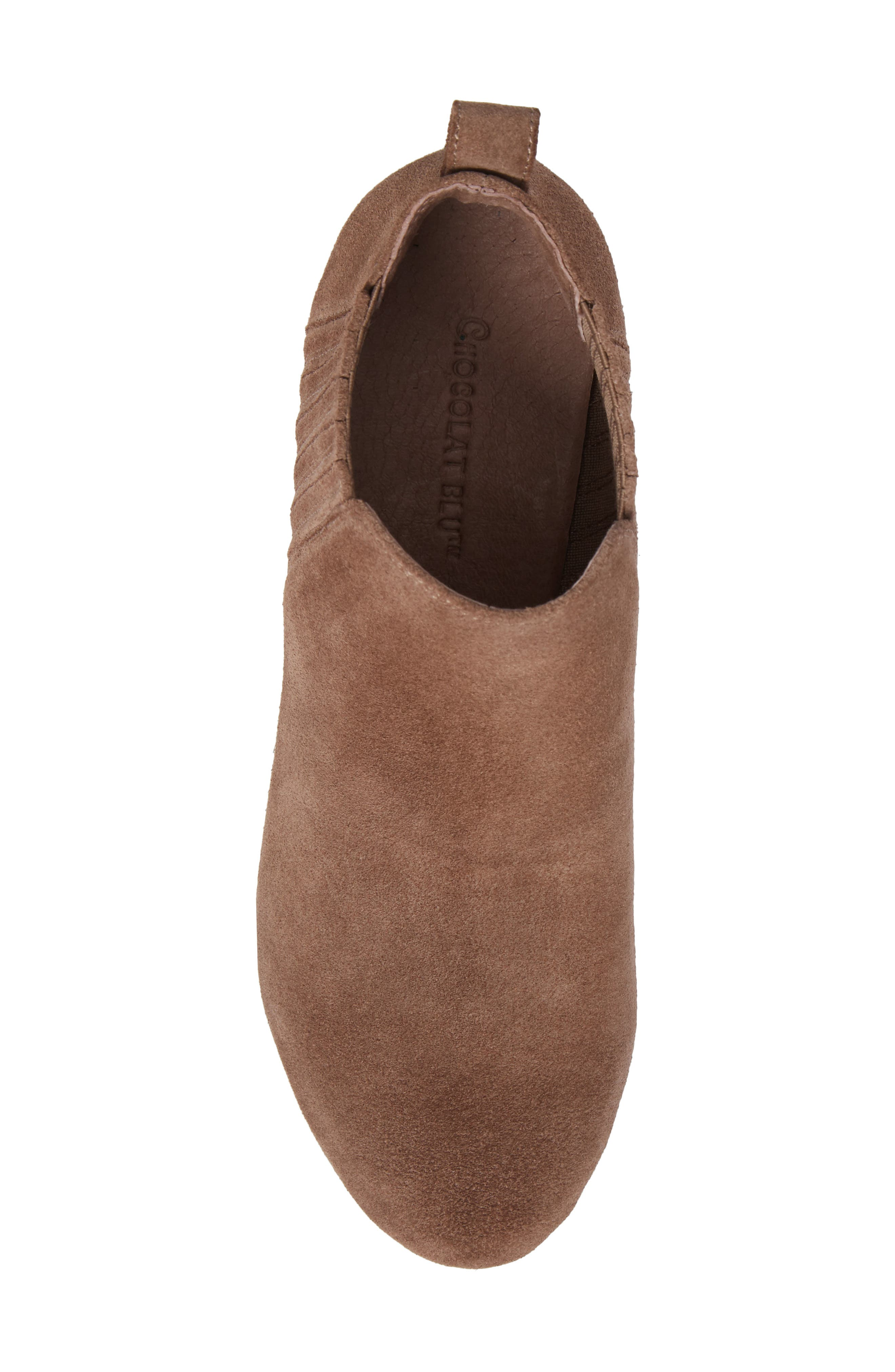 Walden Wedge Bootie,                             Alternate thumbnail 5, color,                             Taupe Suede