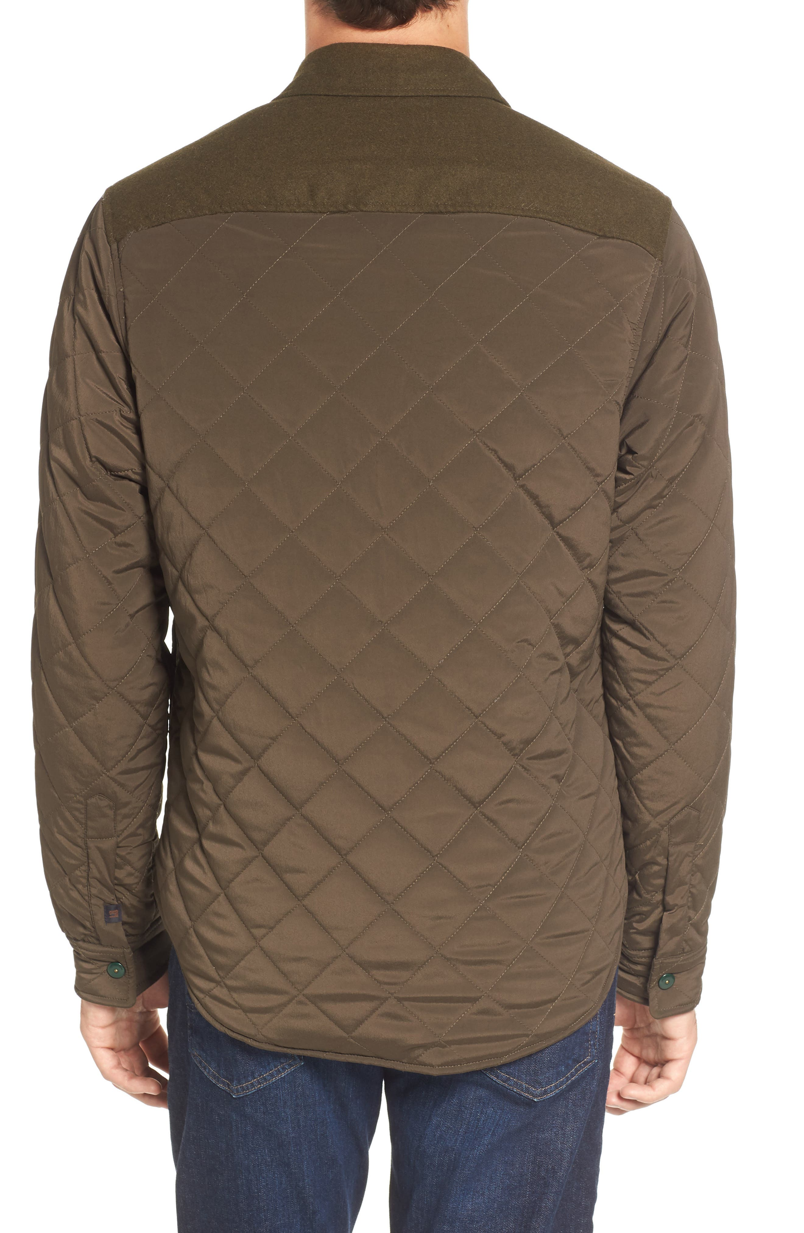 Quilted Shirt Jacket,                             Alternate thumbnail 2, color,                             Army
