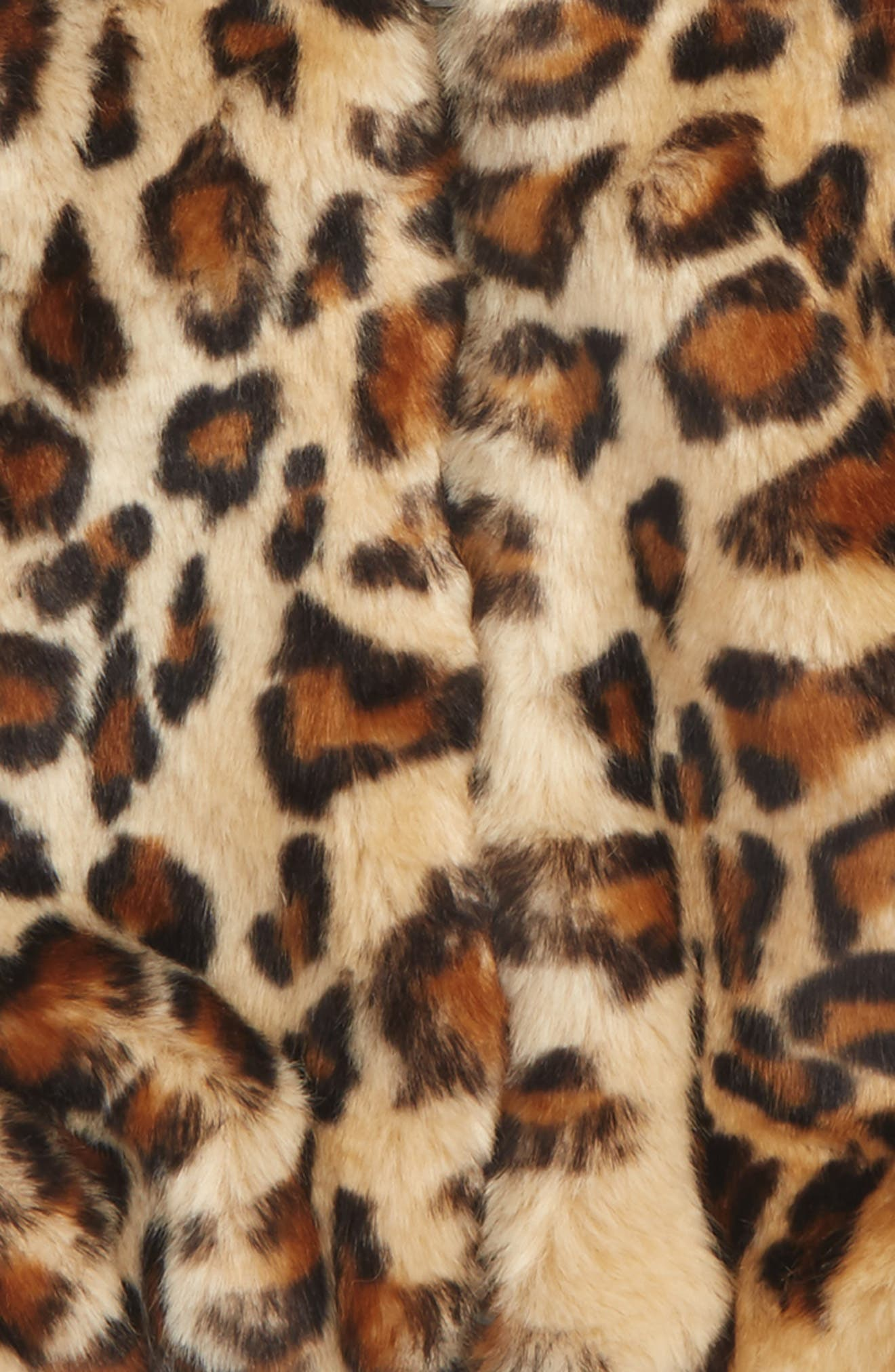 Faux Fur Jacket,                             Alternate thumbnail 2, color,                             Print