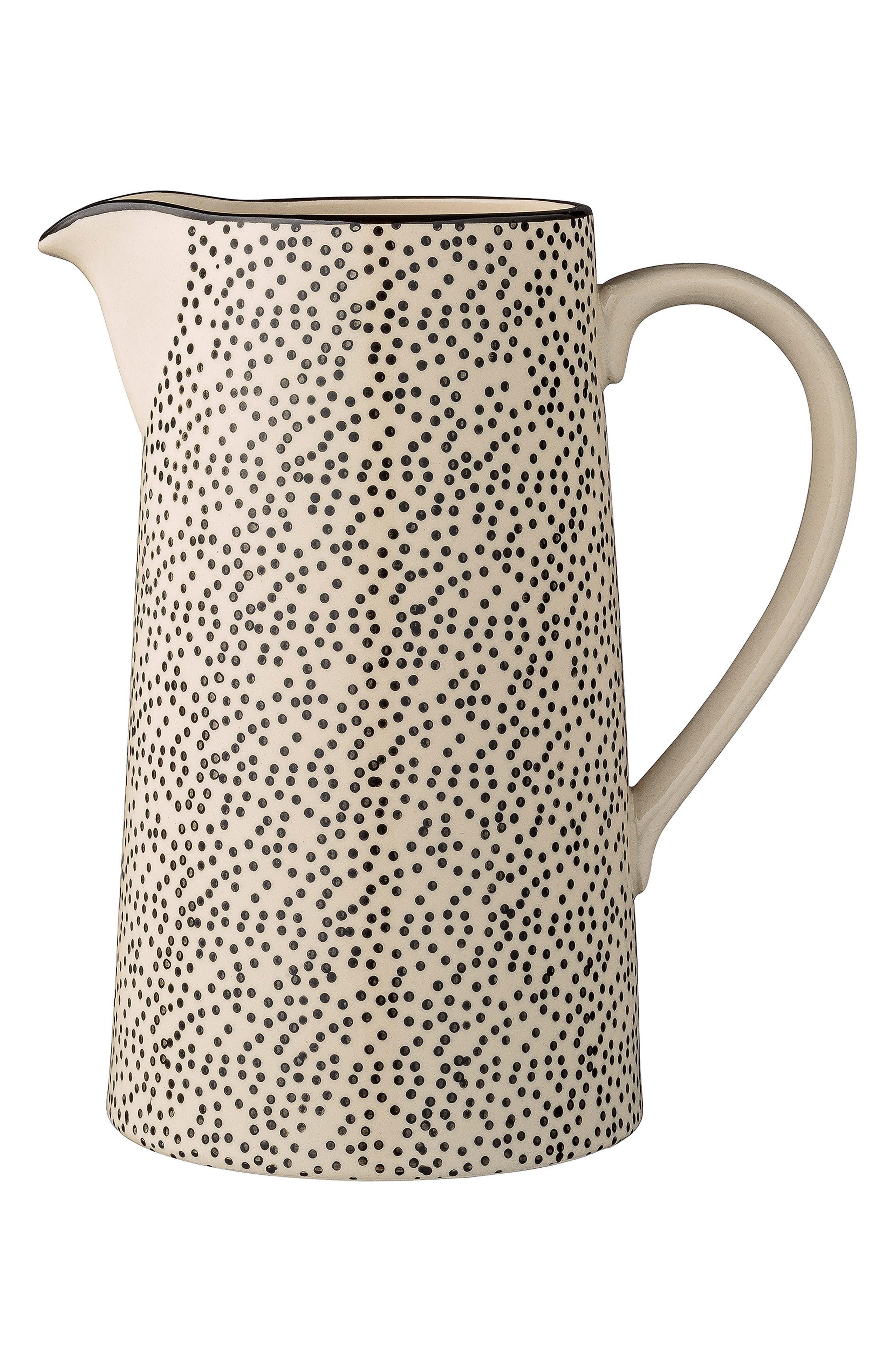 Julie Ceramic Pitcher,                         Main,                         color, White