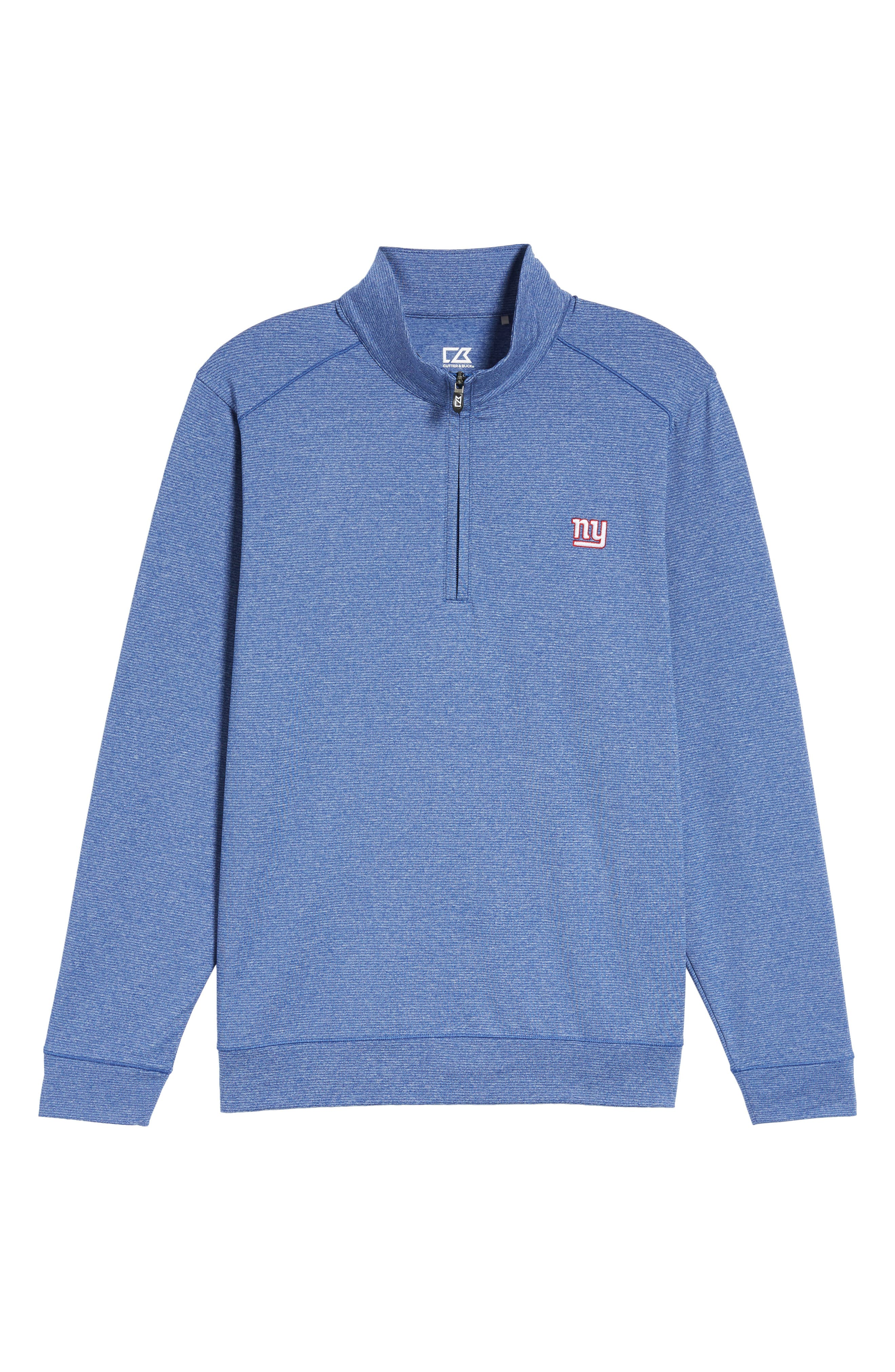 Shoreline - New York Giants Half Zip Pullover,                             Alternate thumbnail 6, color,                             Tour Blue Heather
