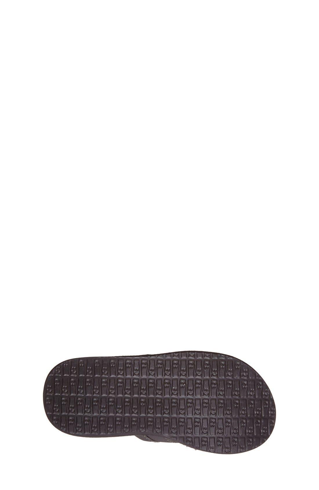 'Rootbeer Cozy' Lightweight Flip Flop Sandal,                             Alternate thumbnail 4, color,                             Black