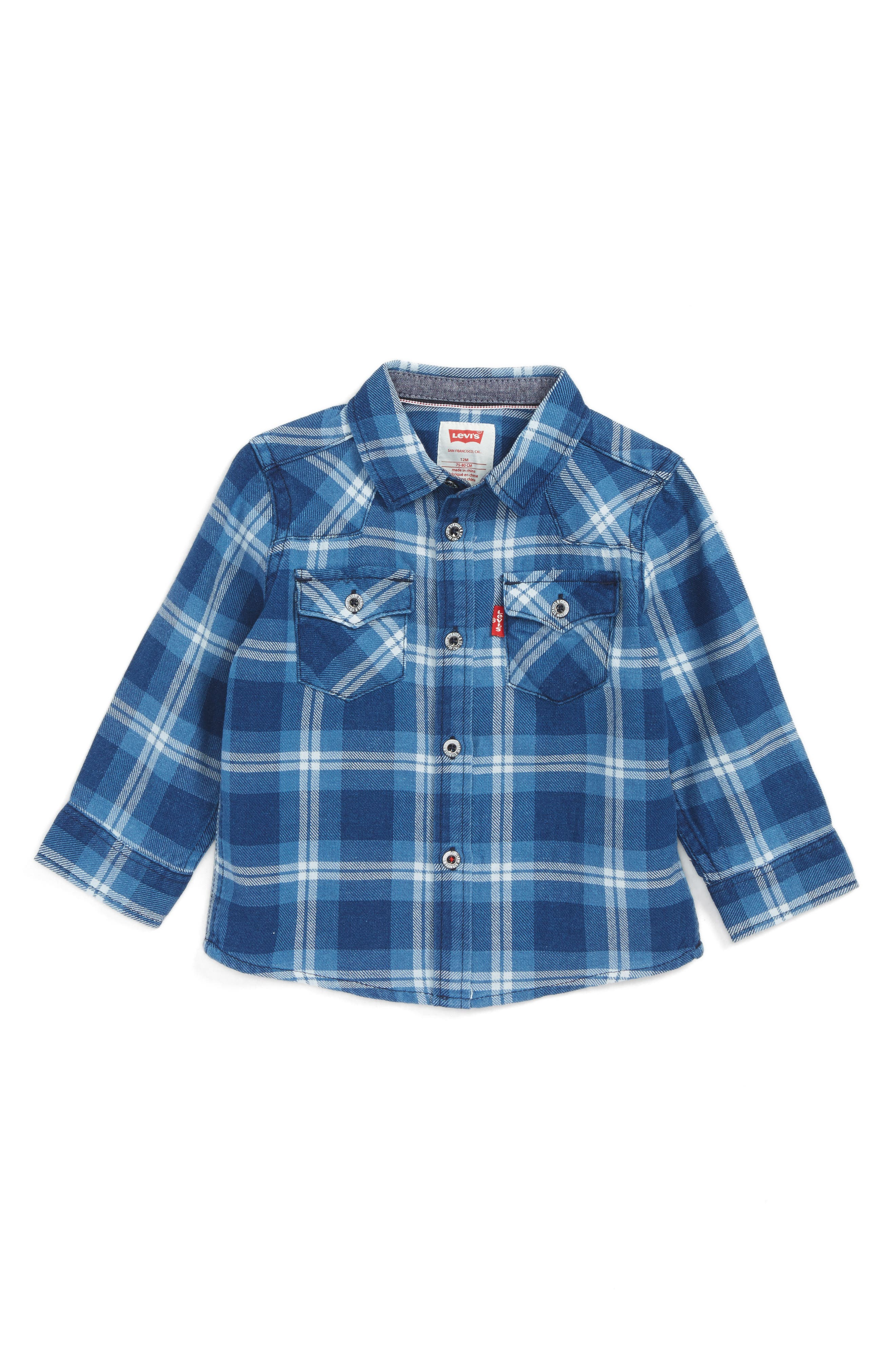Levi's® Barstow Plaid Shirt (Baby Boys)