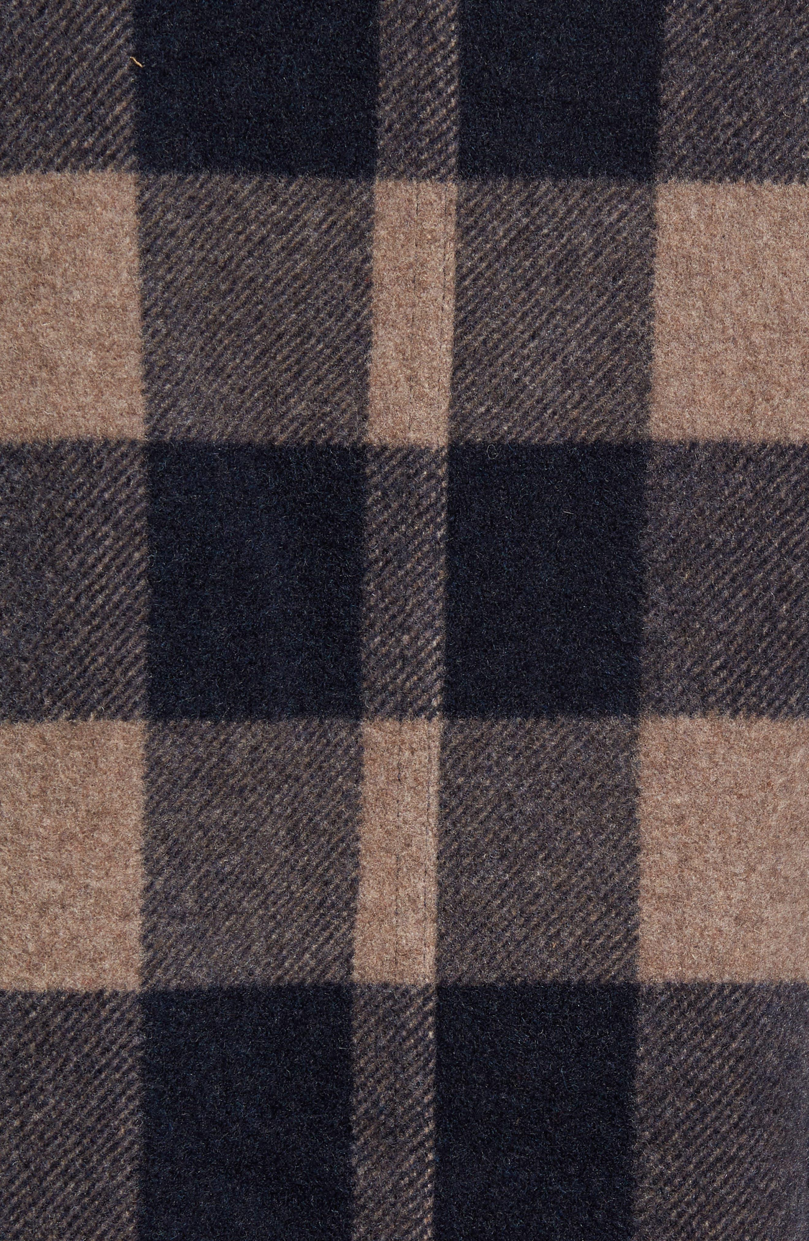 Anchor Line Flannel Shirt Jacket,                             Alternate thumbnail 5, color,                             Navy