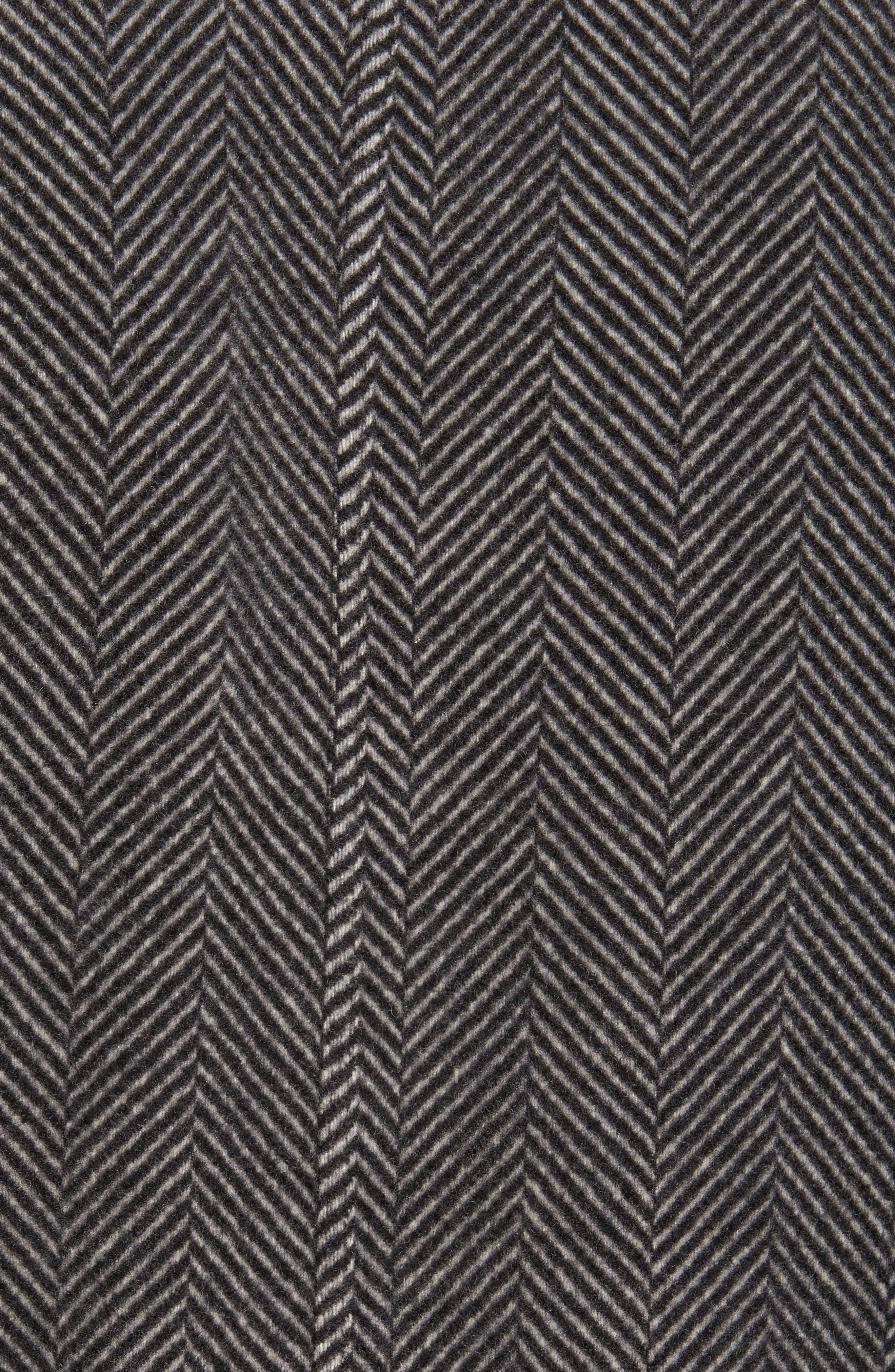 Anchor Line Herringbone Wool Blend Shirt Jacket,                             Alternate thumbnail 5, color,                             Charcoal Heather