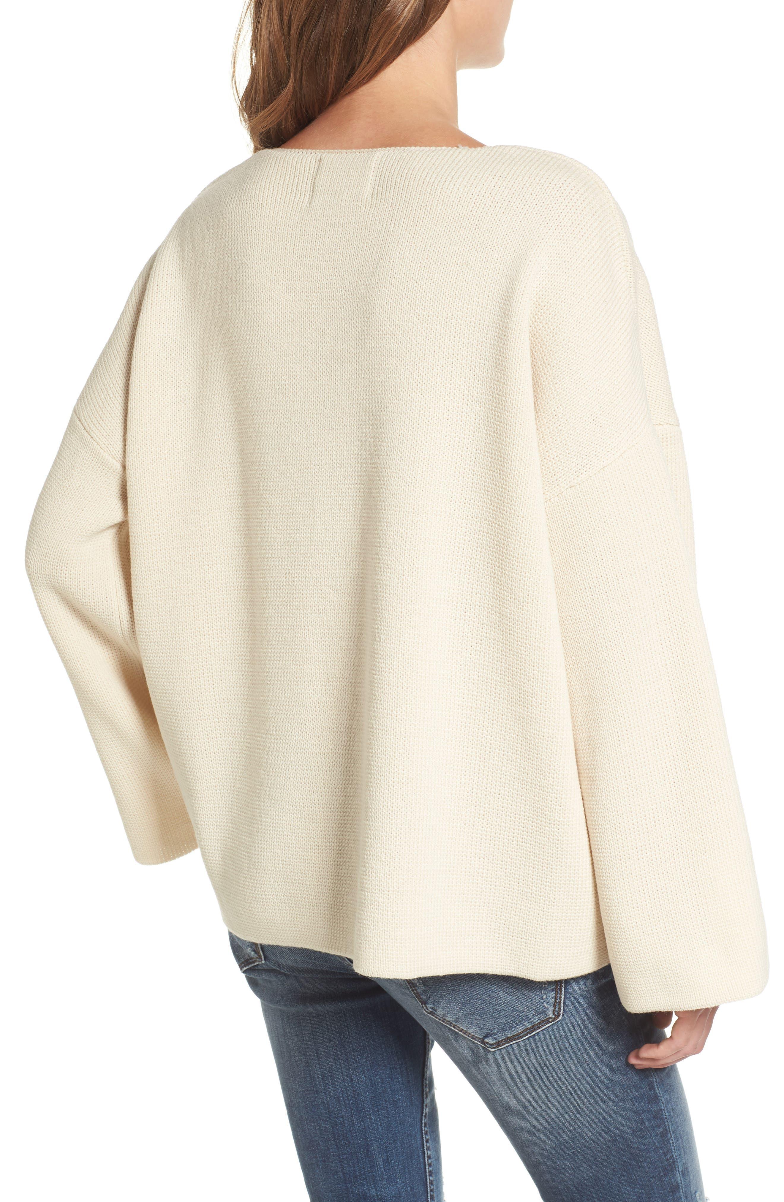 Alternate Image 3  - Moon River V-Neck Sweater
