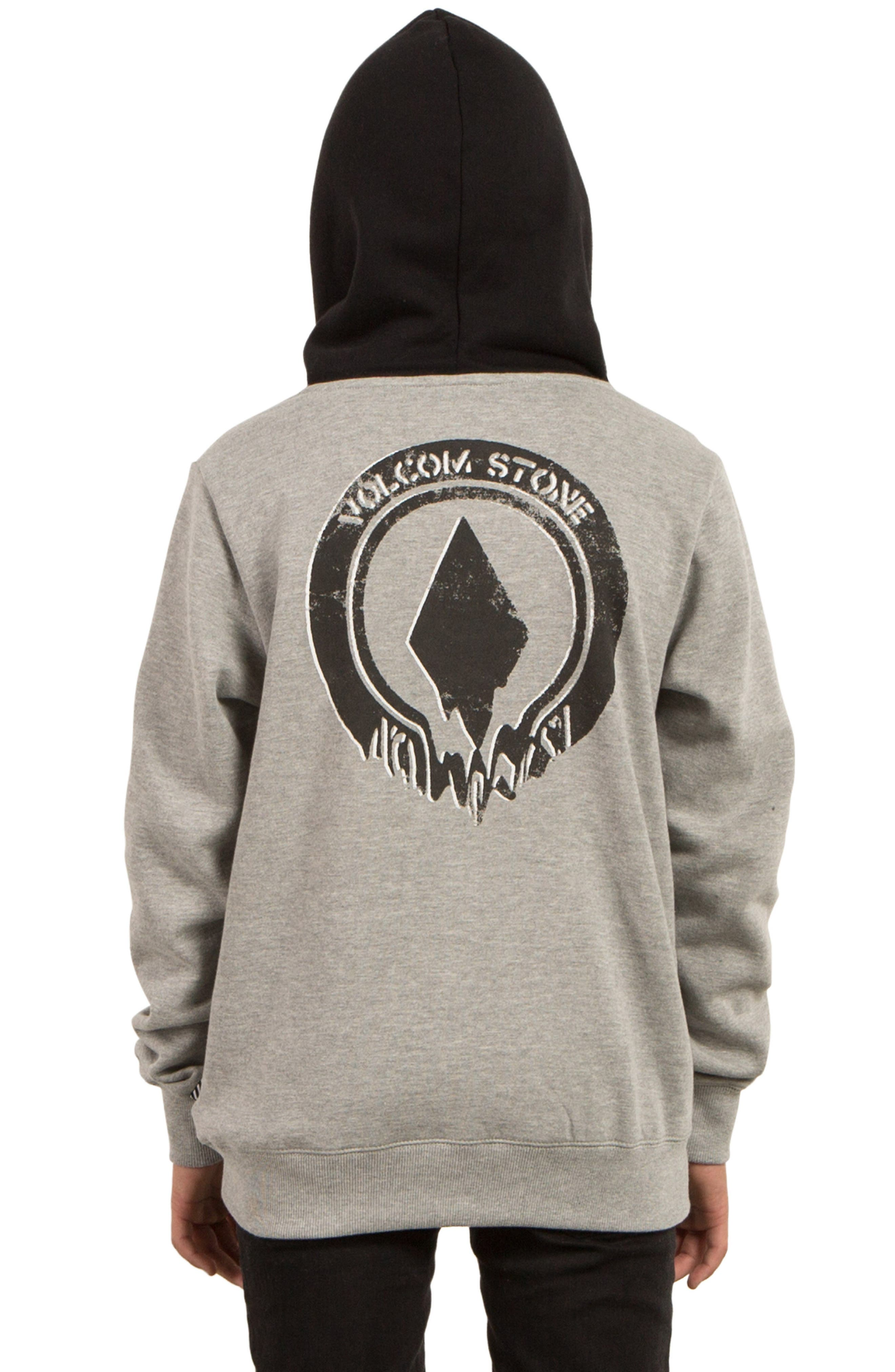 Supply Stone Graphic Pullover Hoodie,                             Alternate thumbnail 2, color,                             Grey
