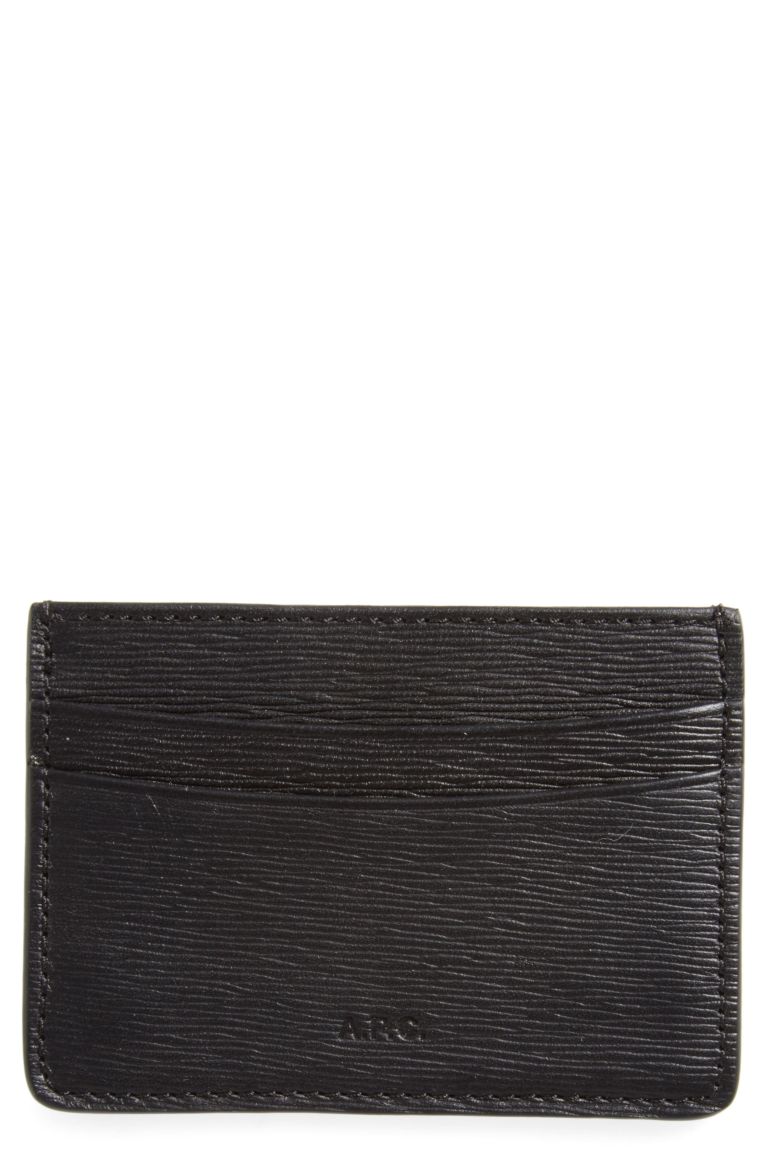 A.P.C. Andre Textured Leather Card Case