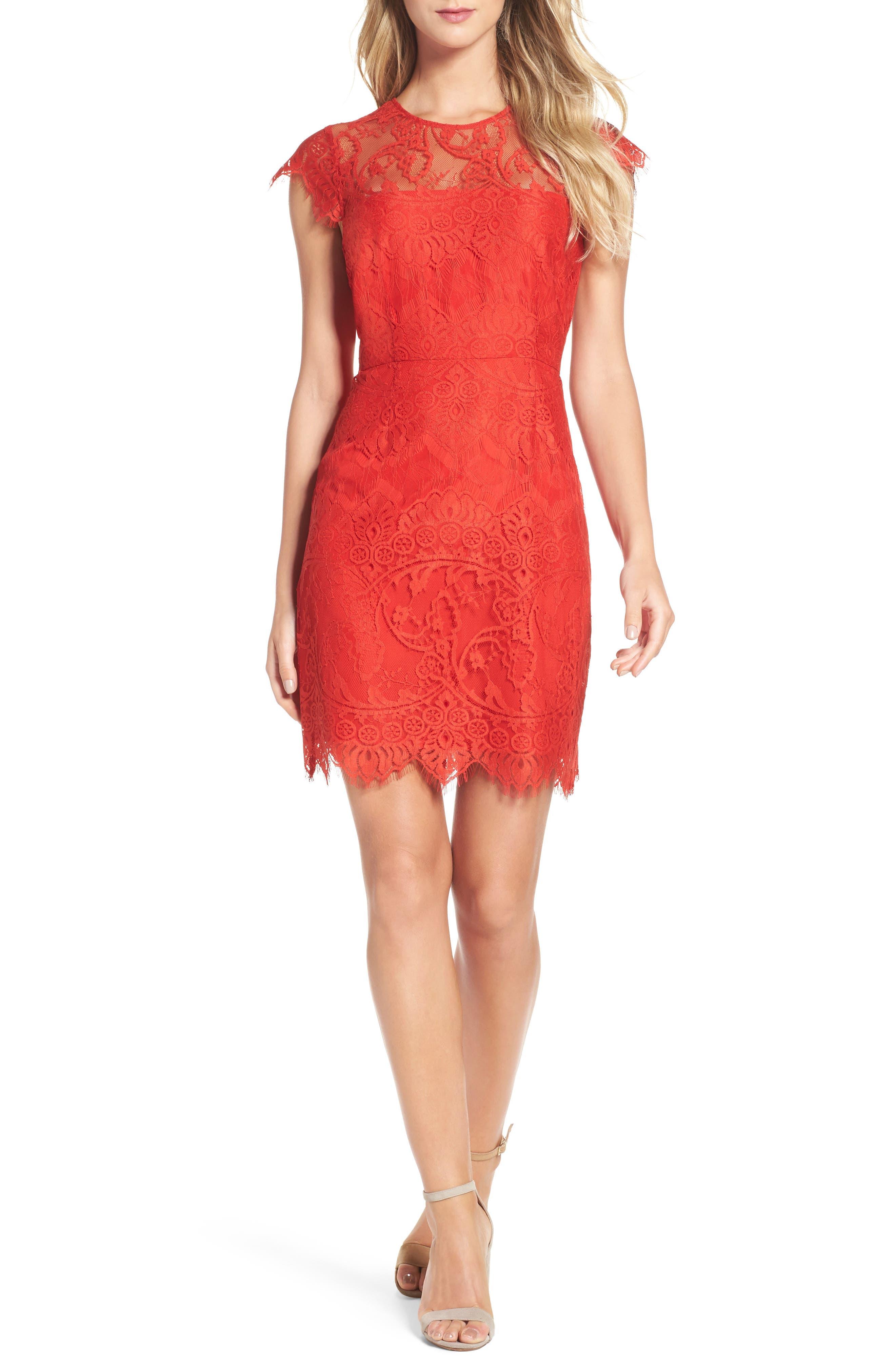 Main Image - BB Dakota Jayce Lace Sheath Dress