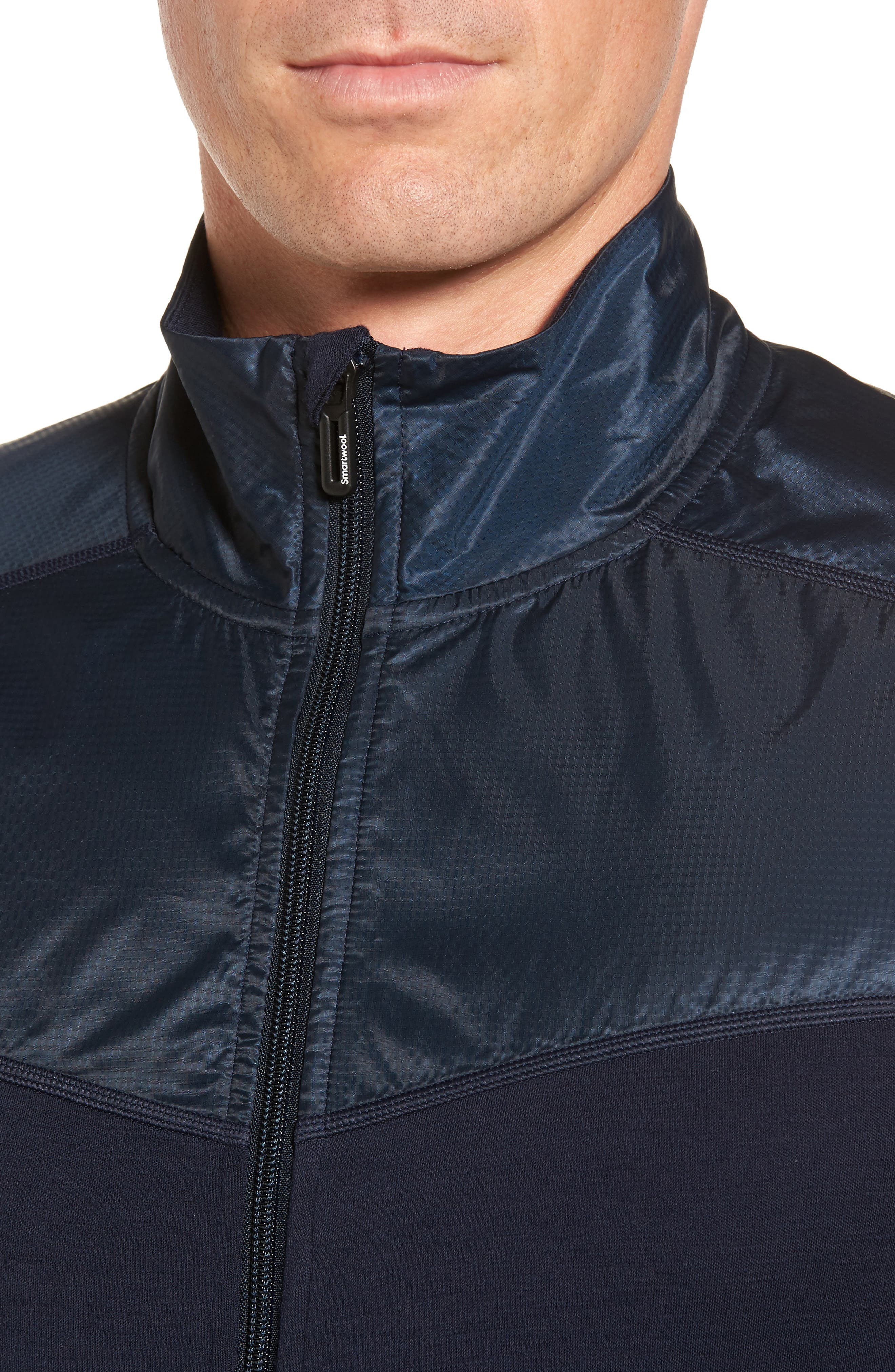 250 Sport Merino Wool Zip Jacket,                             Alternate thumbnail 4, color,                             Deep Navy