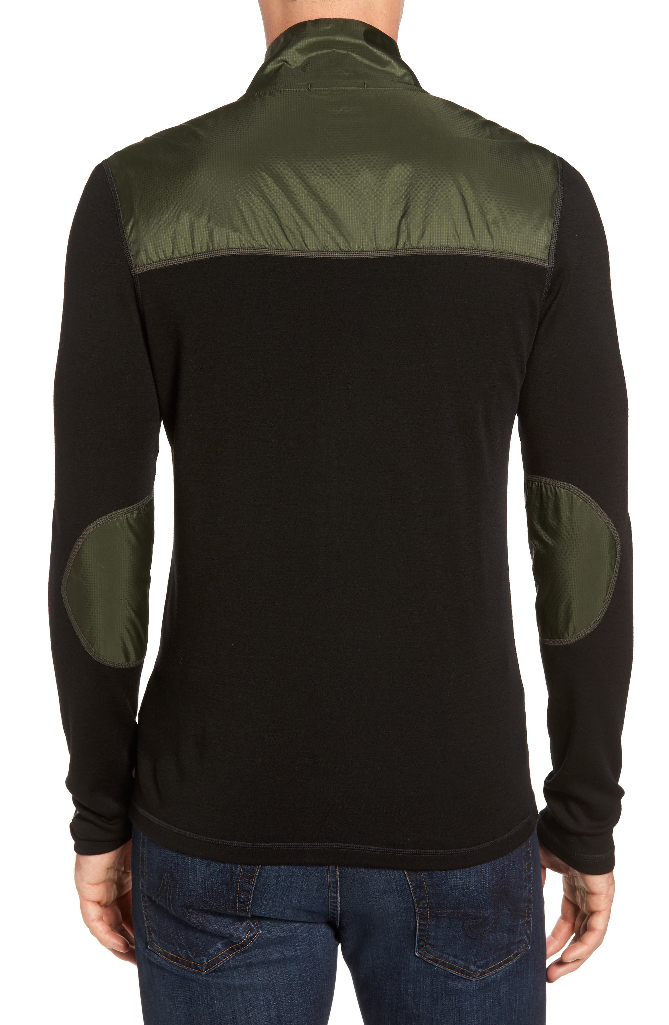 250 Sport Merino Wool Zip Jacket,                             Alternate thumbnail 2, color,                             Olive