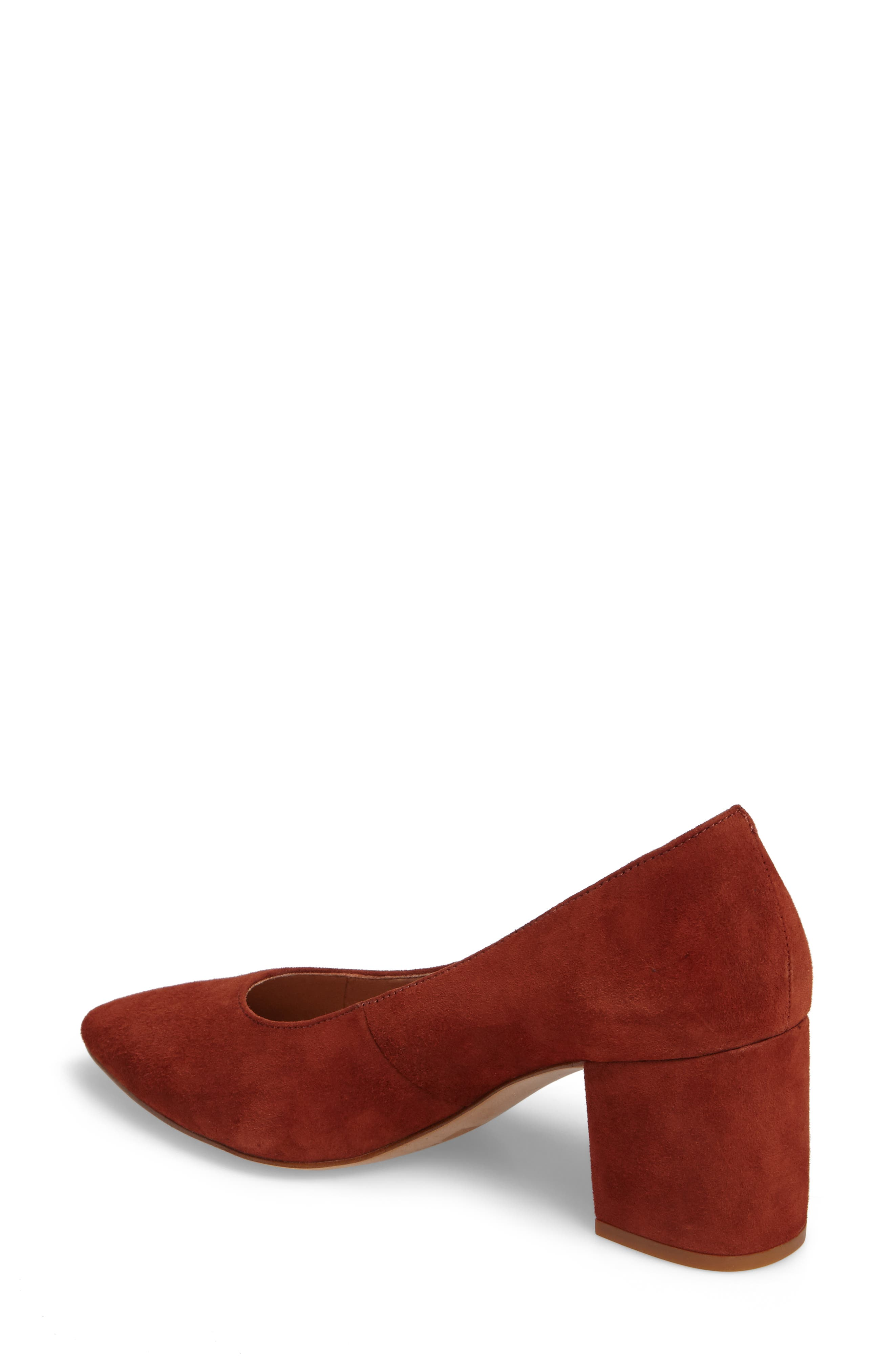 Rivka Pointy Toe Pump,                             Alternate thumbnail 2, color,                             Vintage Redwood Suede