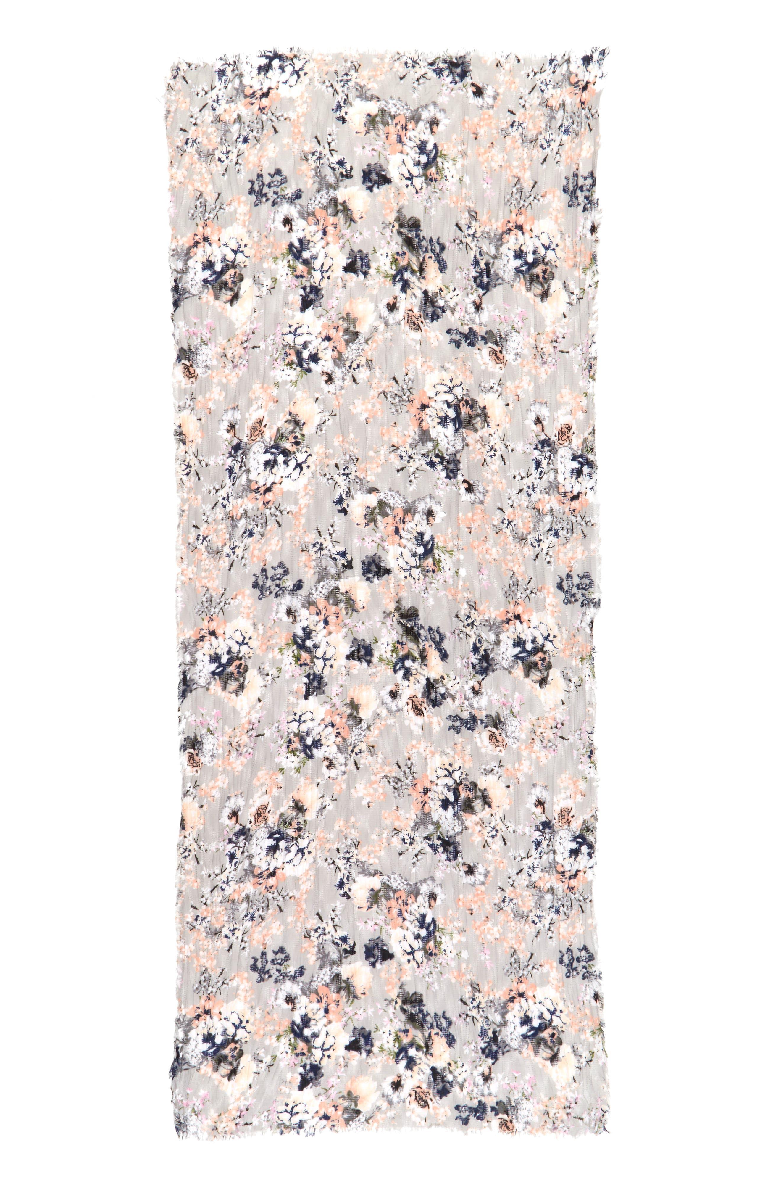 Alternate Image 2  - BP. Floral Print Oblong Scarf