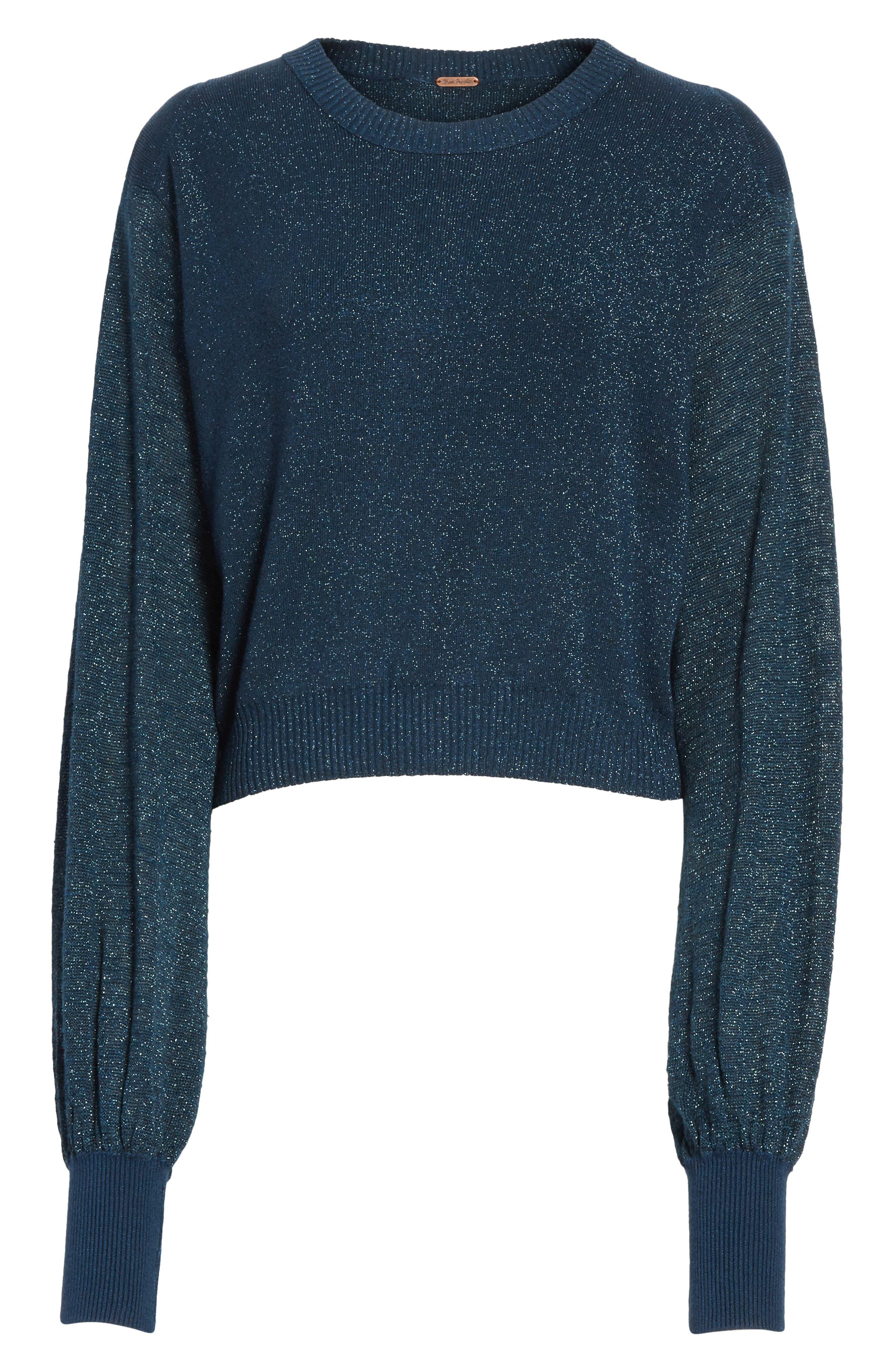 Let it Shine Sweater,                             Alternate thumbnail 6, color,                             Navy
