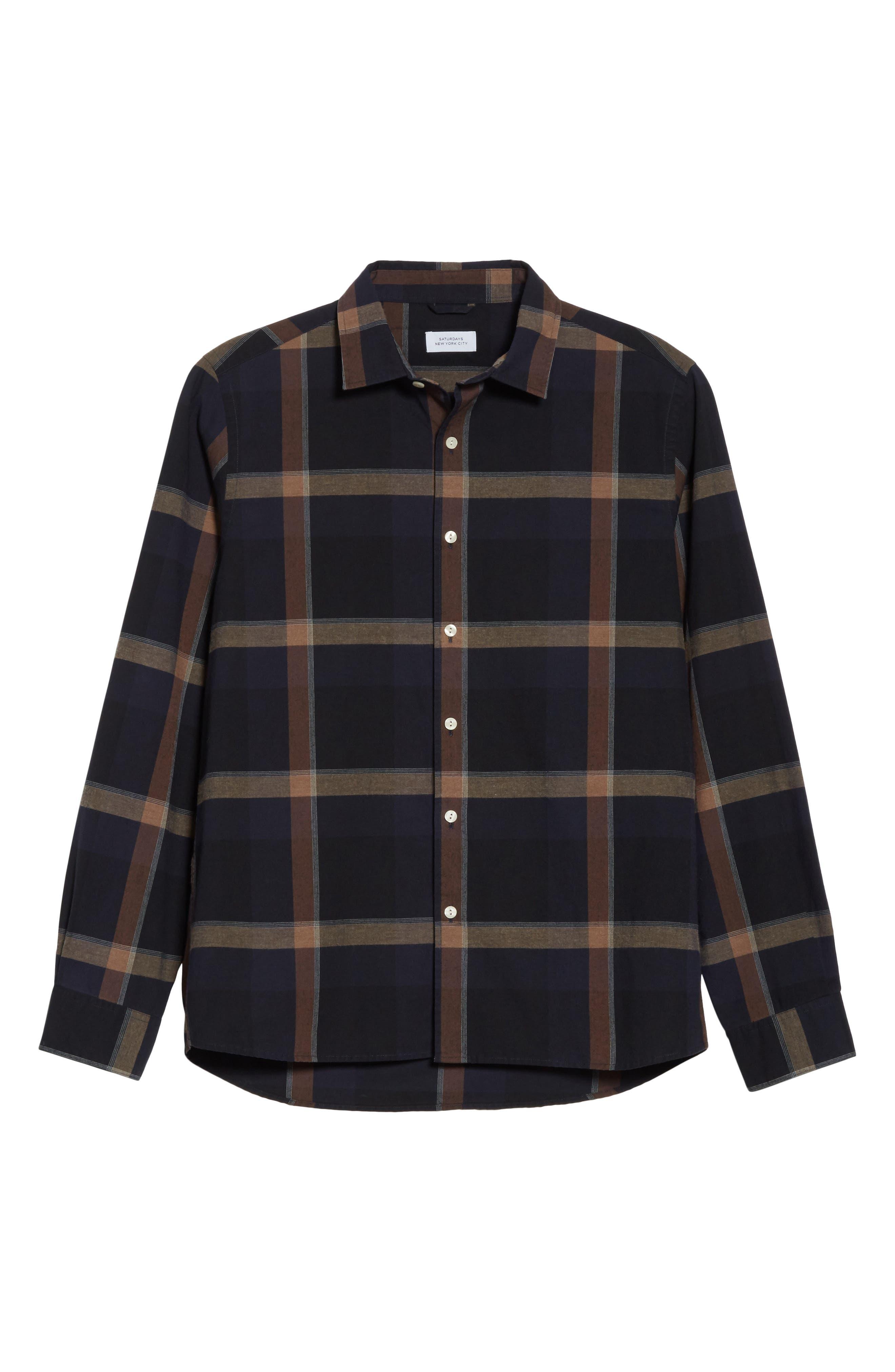 Alternate Image 6  - Saturdays NYC Laslo Check Shirt