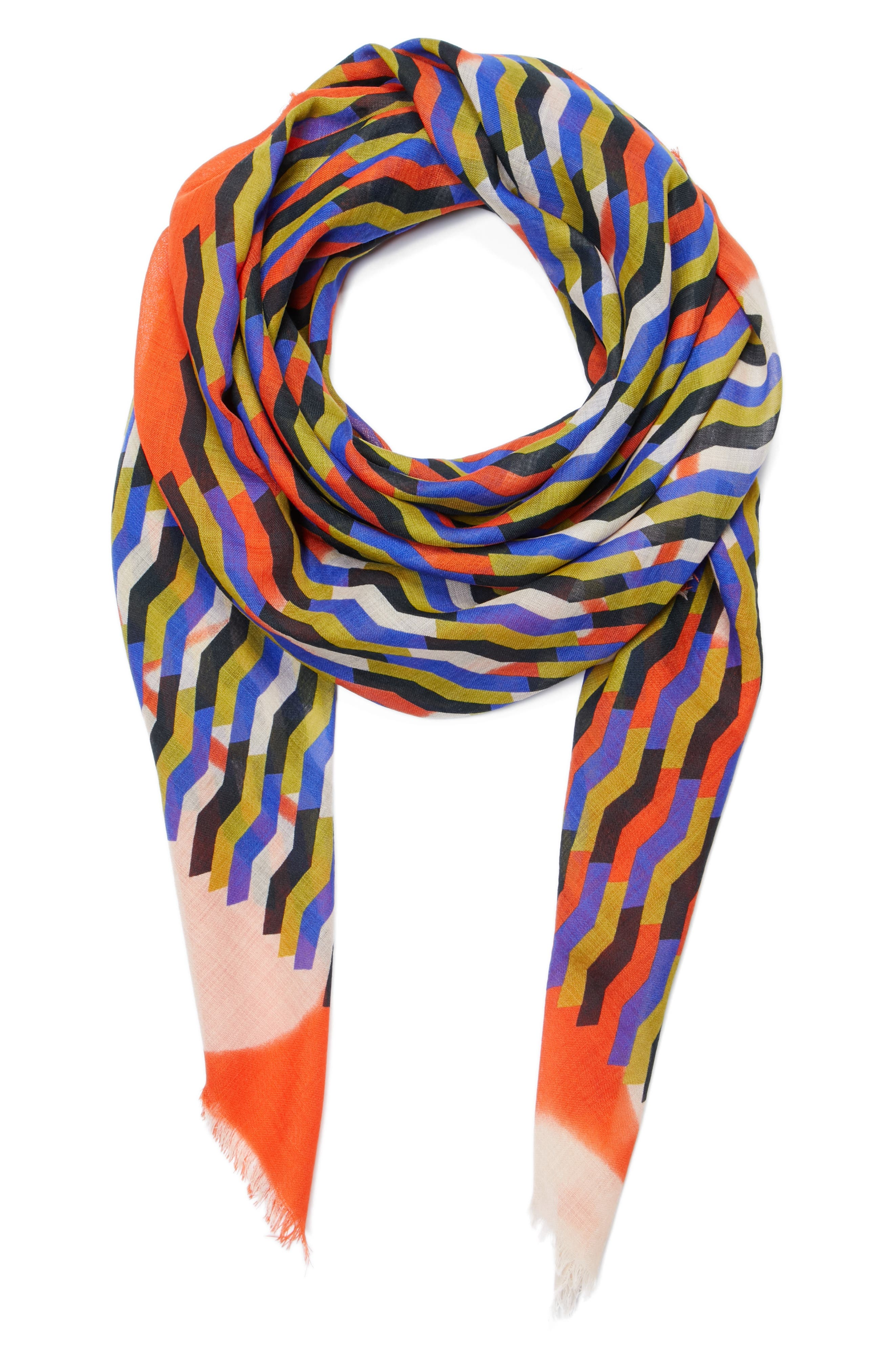 Dries Van Noten Print Wool Scarf