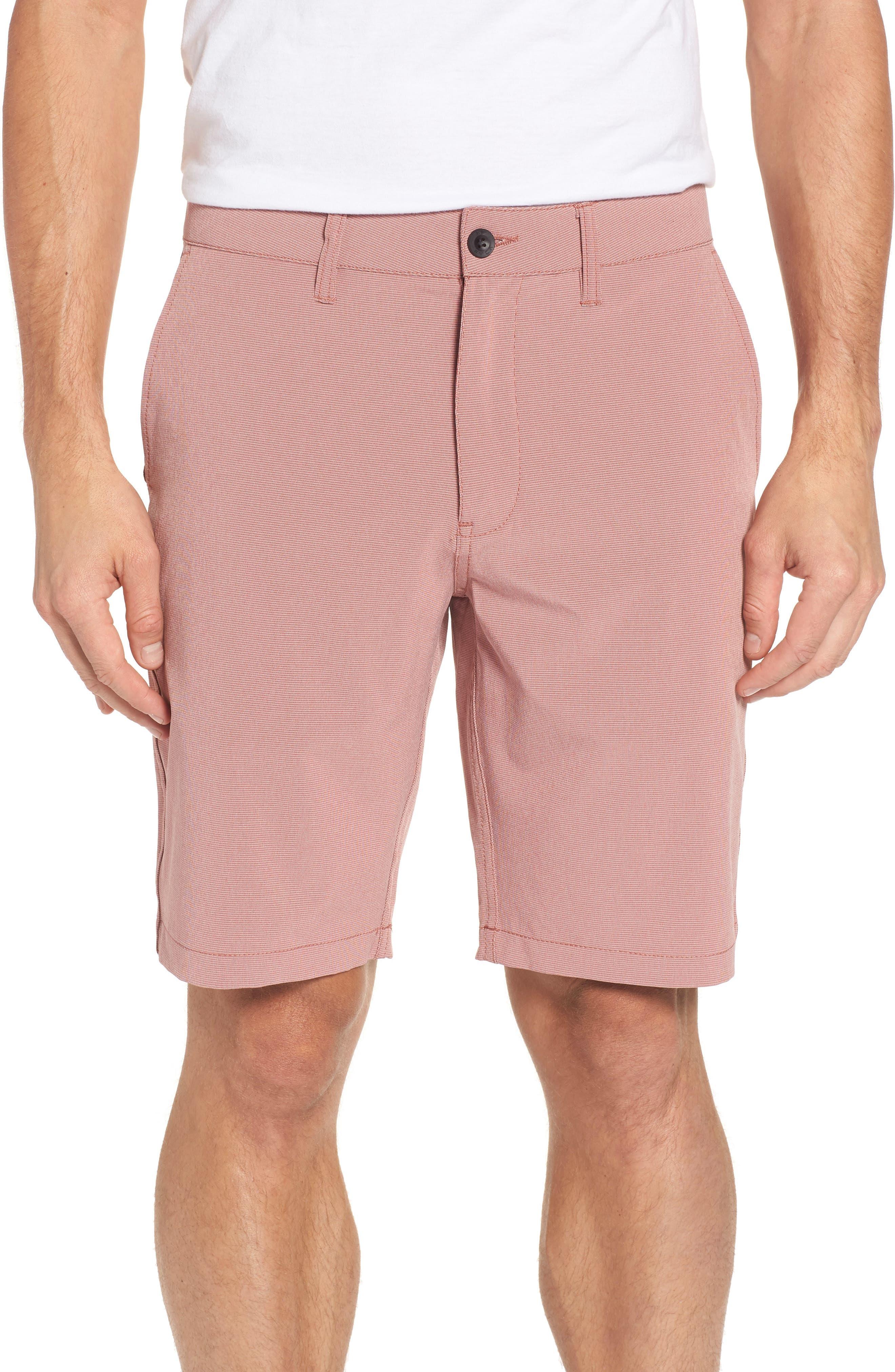 Grid Hybrid Shorts,                         Main,                         color, Rosewood