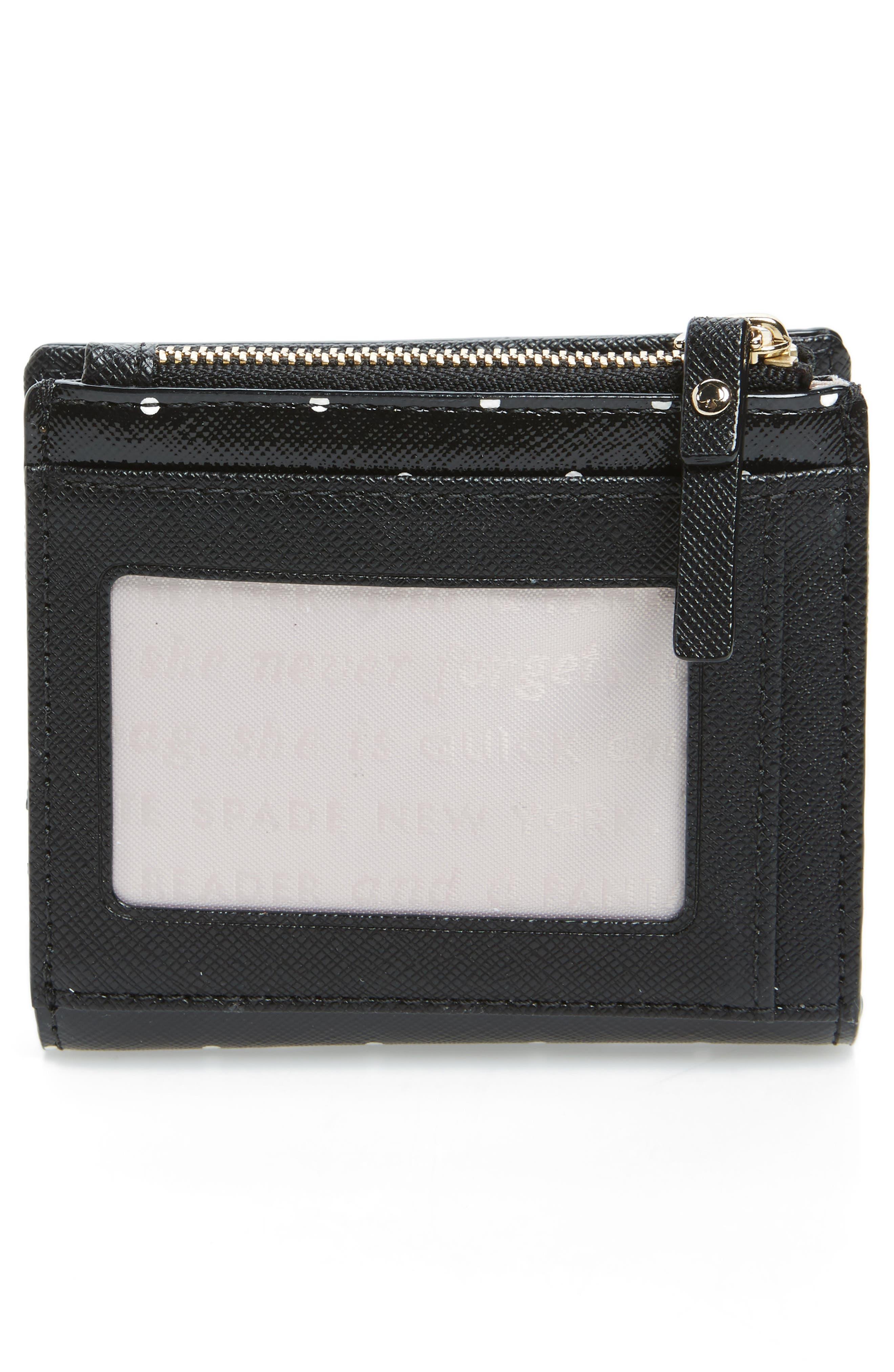 brooks drive - adalyn wallet,                             Alternate thumbnail 3, color,                             Black/ Cream