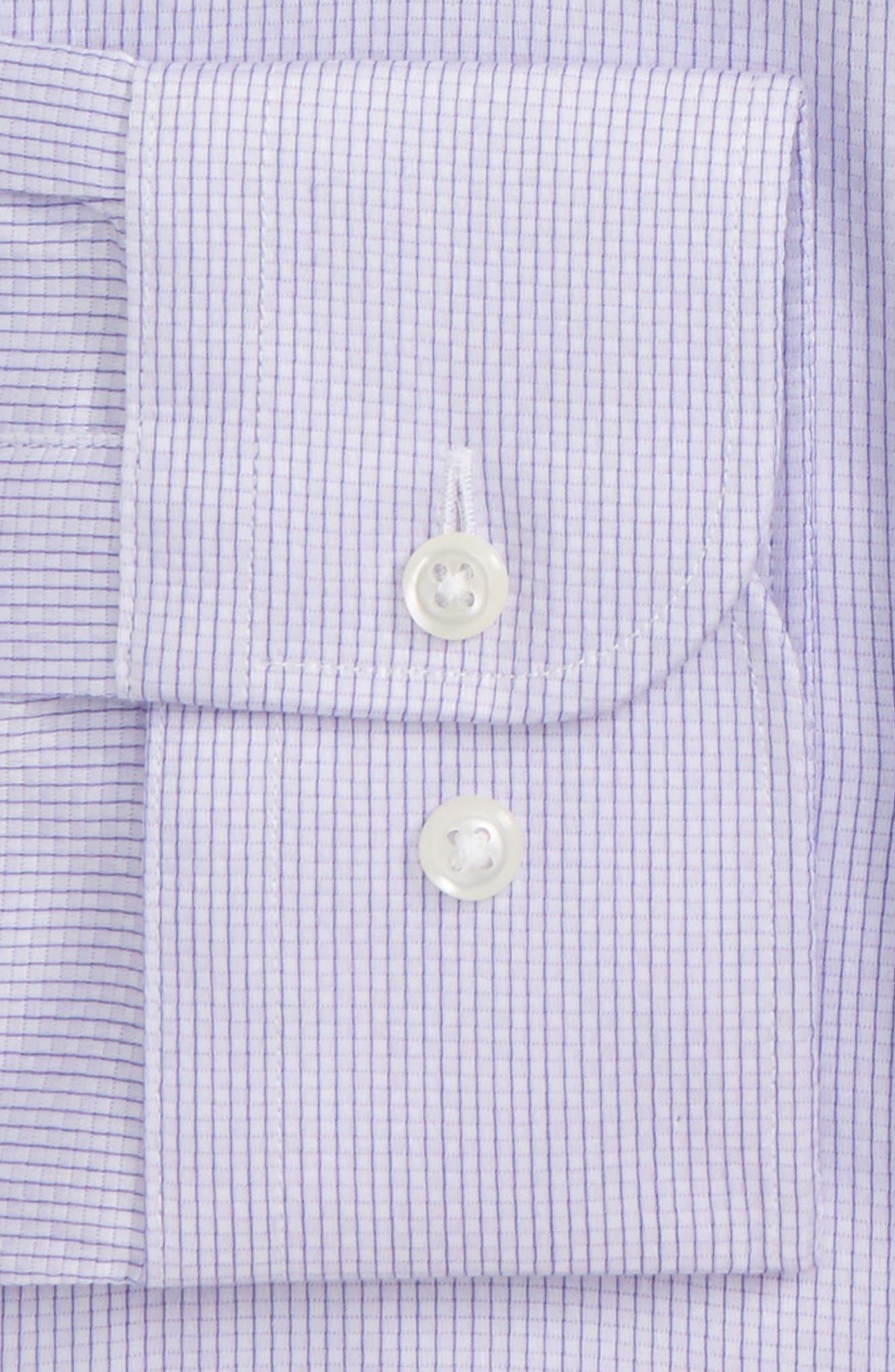 Alternate Image 5  - Nordstrom Men's Shop Traditional Fit Stripe Dress Shirt
