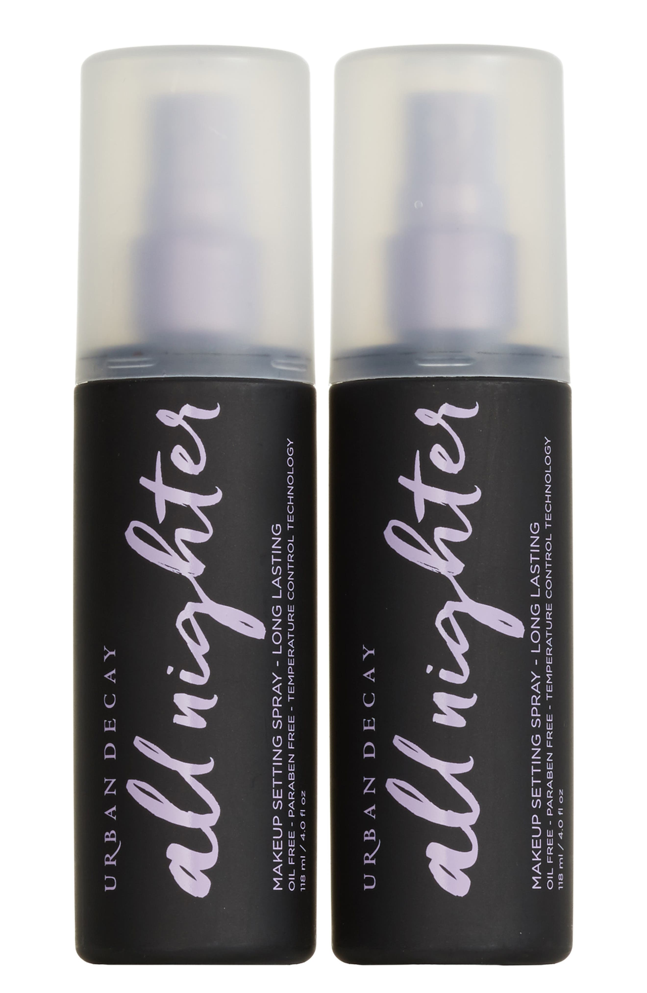 All Nighter Makeup Setting Spray Duo,                             Alternate thumbnail 2, color,                             No Color