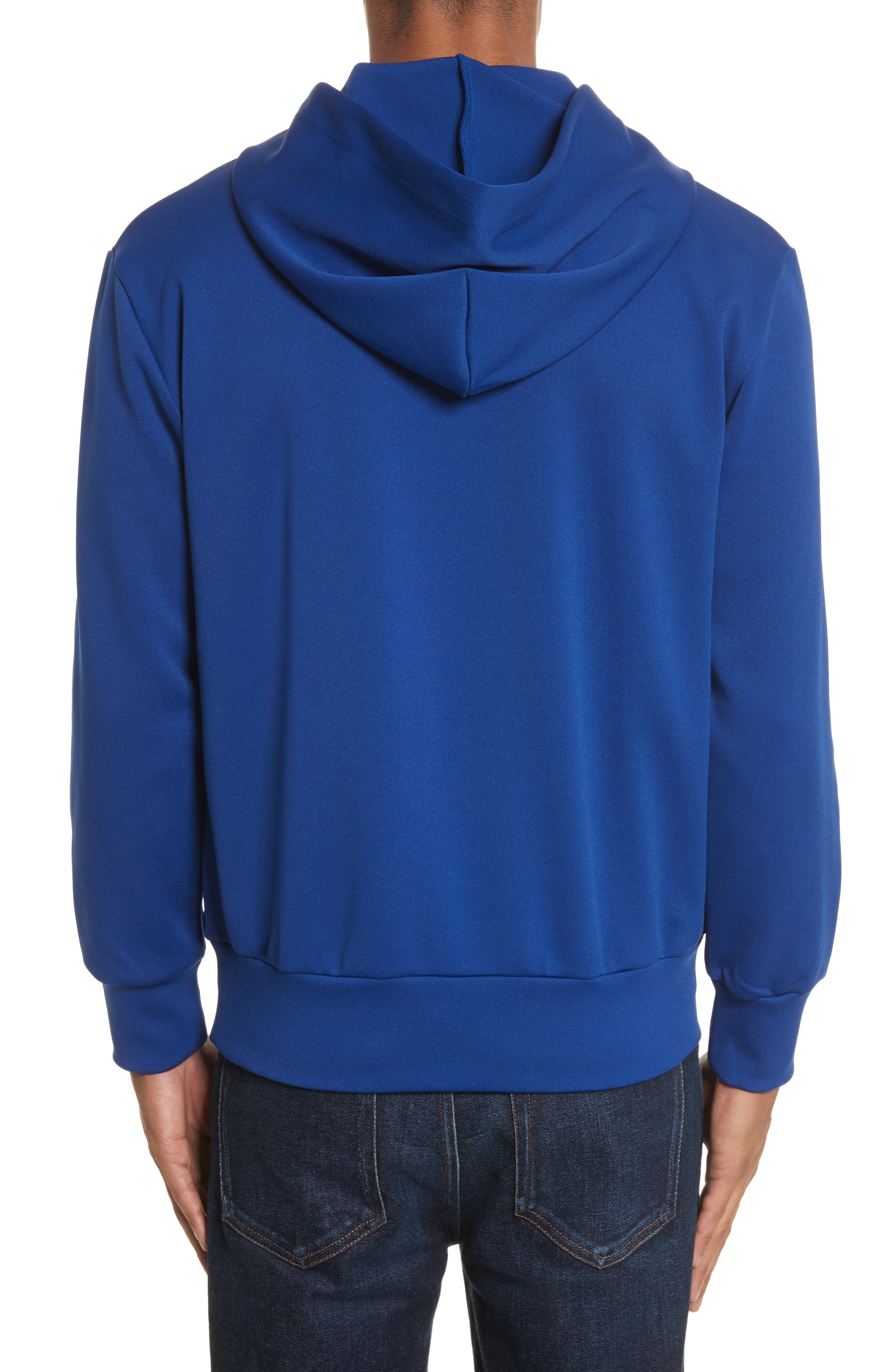 Comme des Garçons PLAY Pullover Hoodie,                             Alternate thumbnail 2, color,                             Navy
