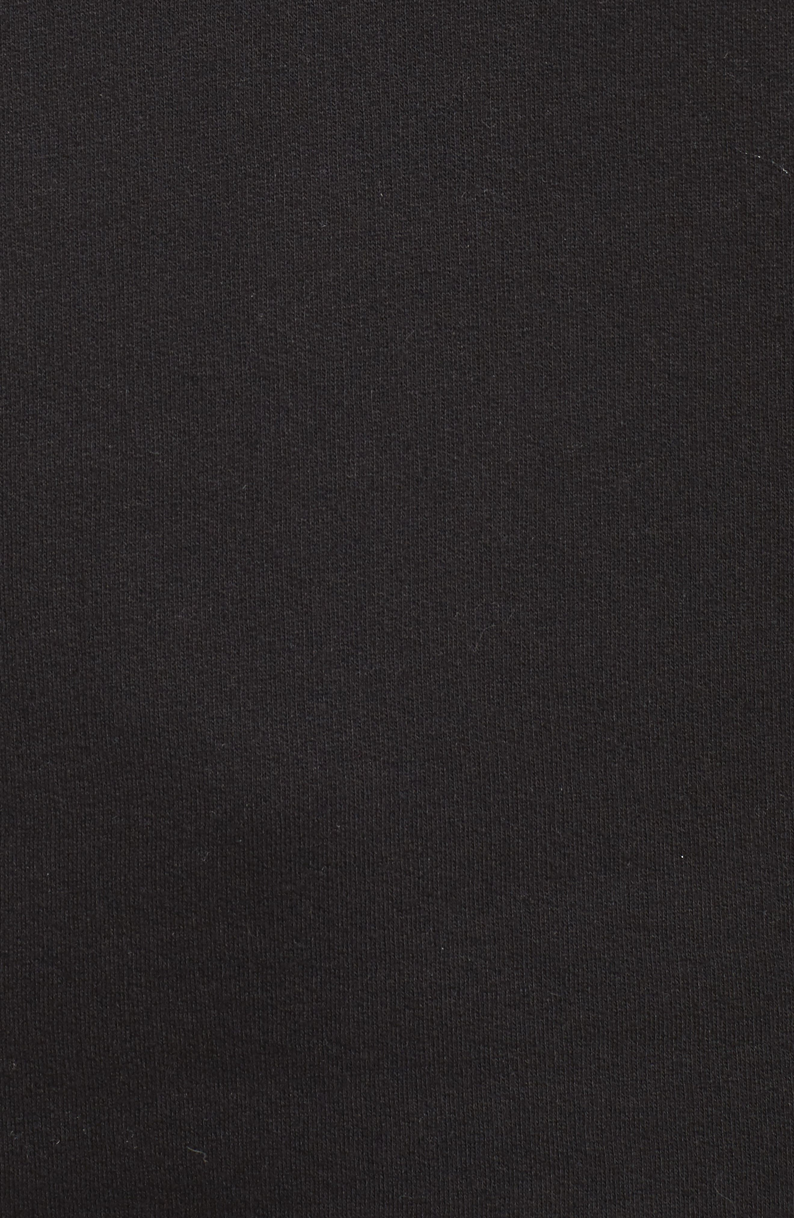 No Champagne No Gain Sweatshirt,                             Alternate thumbnail 5, color,                             Black