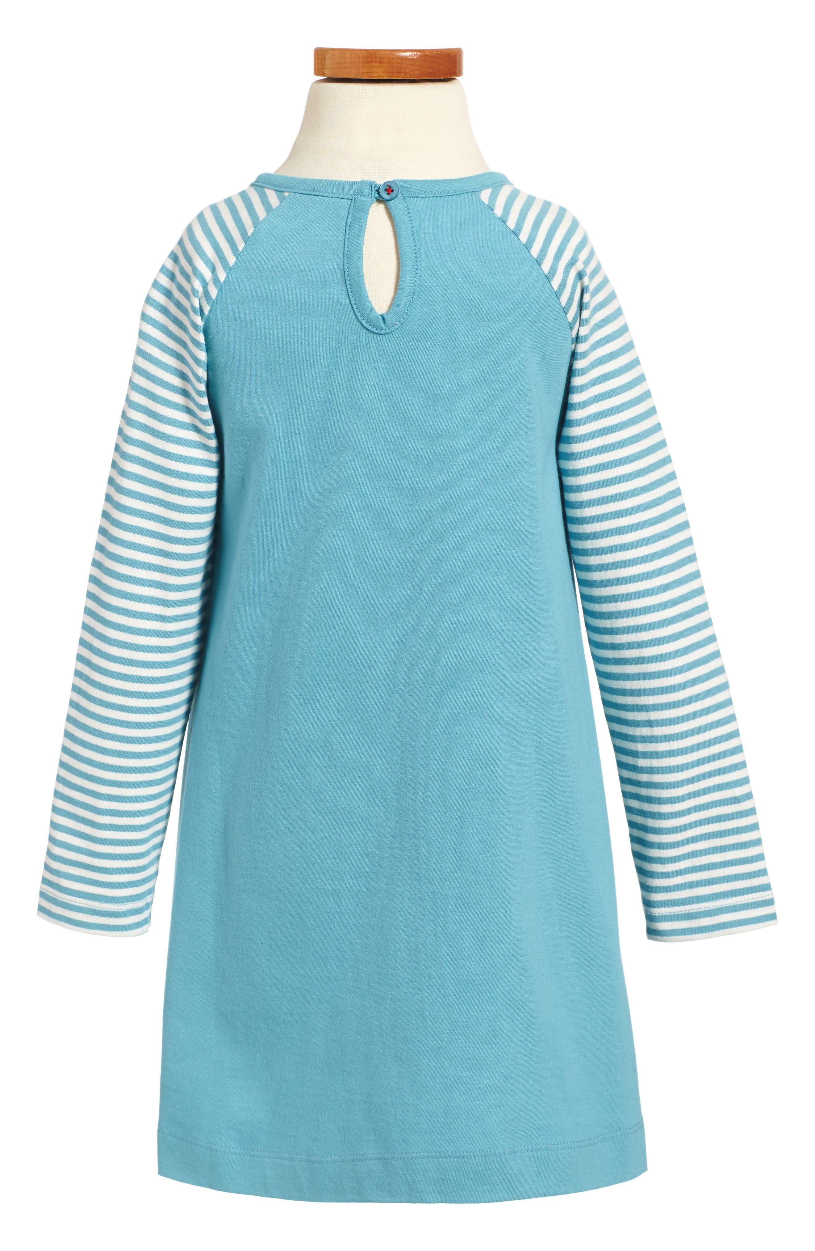Big Appliqué Jersey Dress,                             Alternate thumbnail 2, color,                             Frost Blue Duck