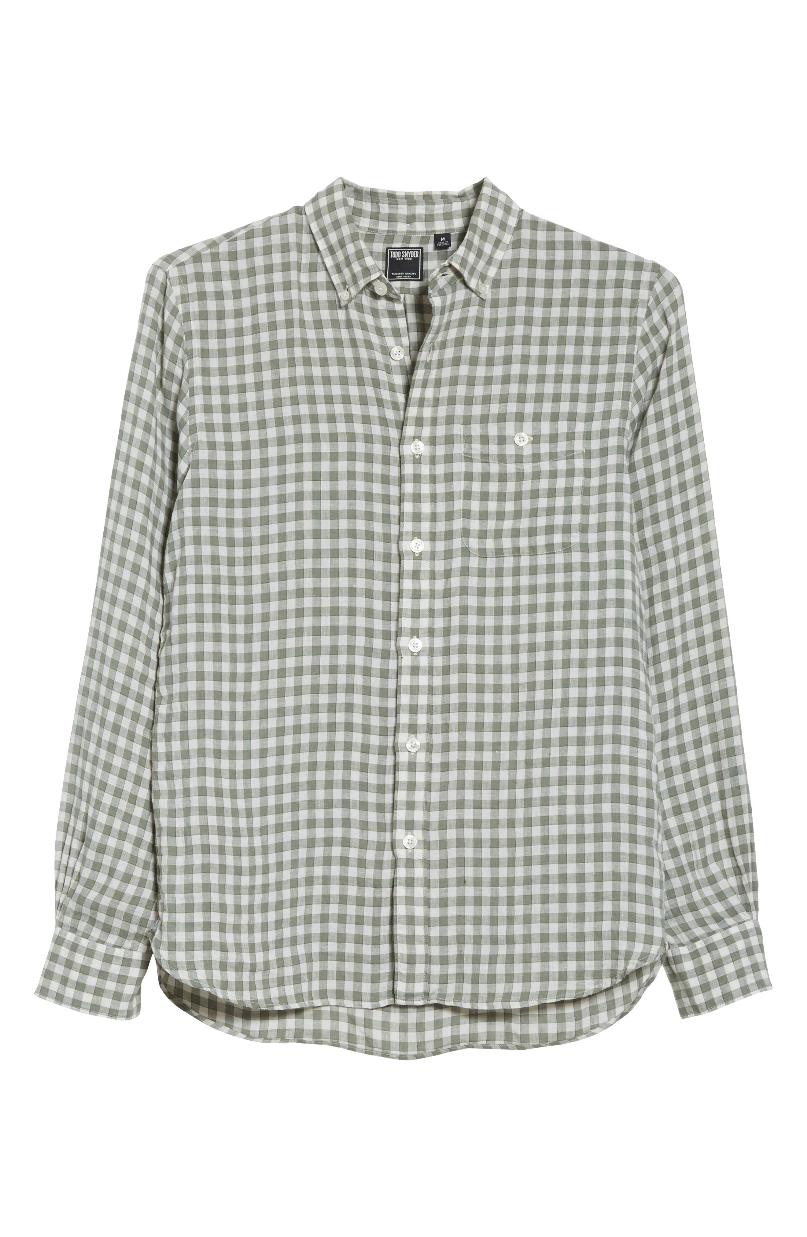 Alternate Image 6  - Todd Snyder Check Woven Shirt