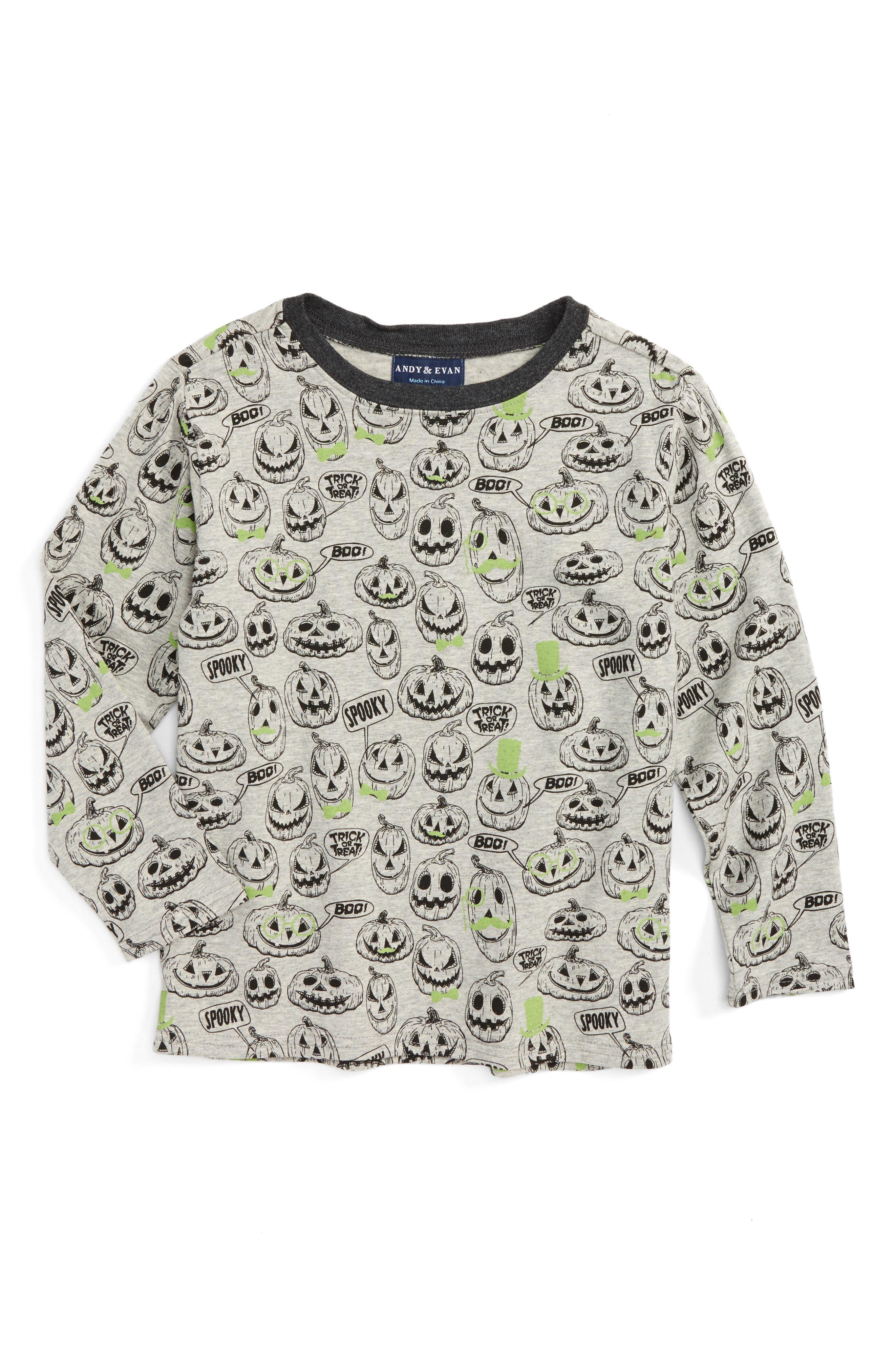 Andy & Evan Jack-O'-Lantern T-Shirt (Toddler Boys & Little Boys)