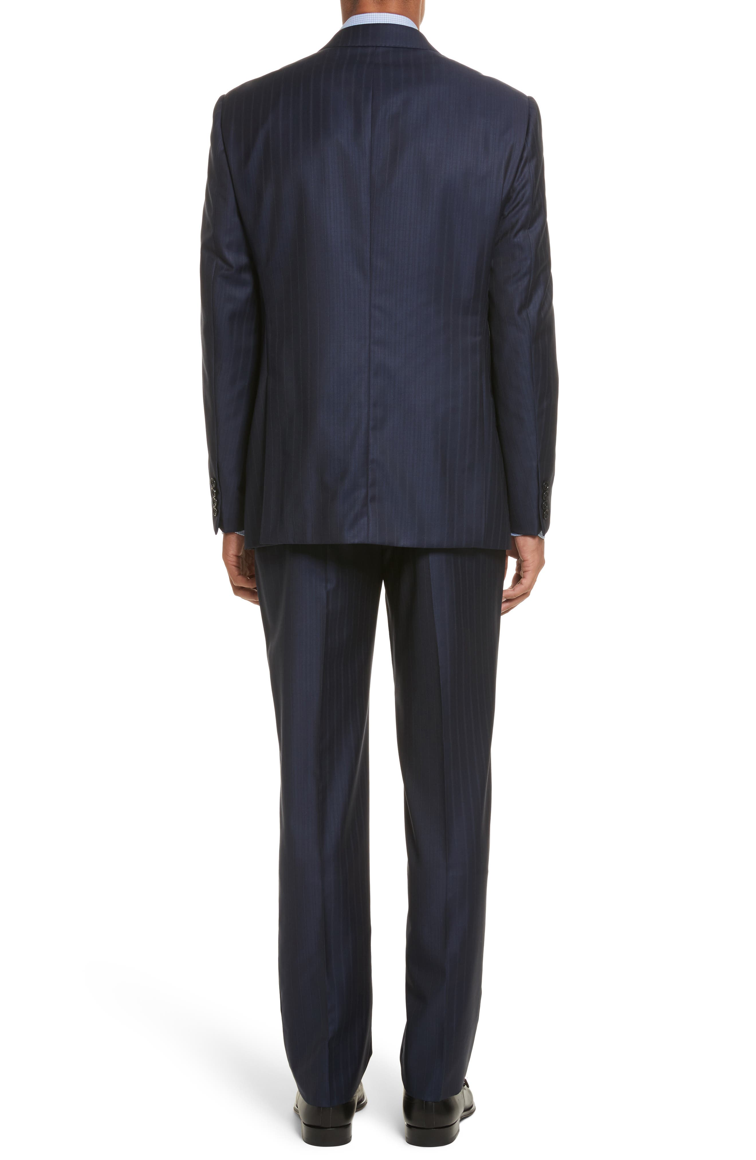 Alternate Image 2  - Armani Collezioni G-Line Trim Fit Stripe Wool Suit