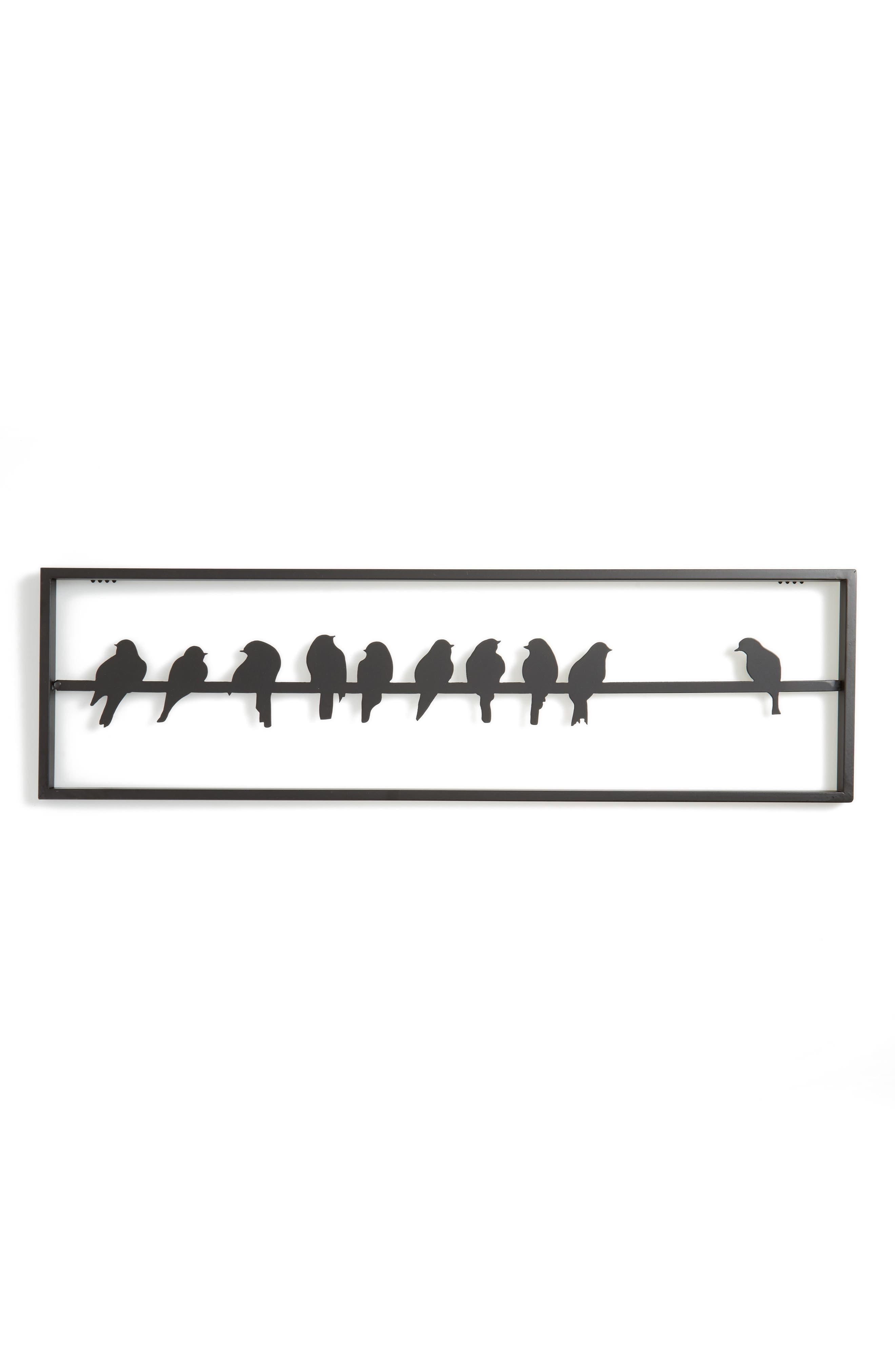 Home Crow Wall Art,                         Main,                         color, Black