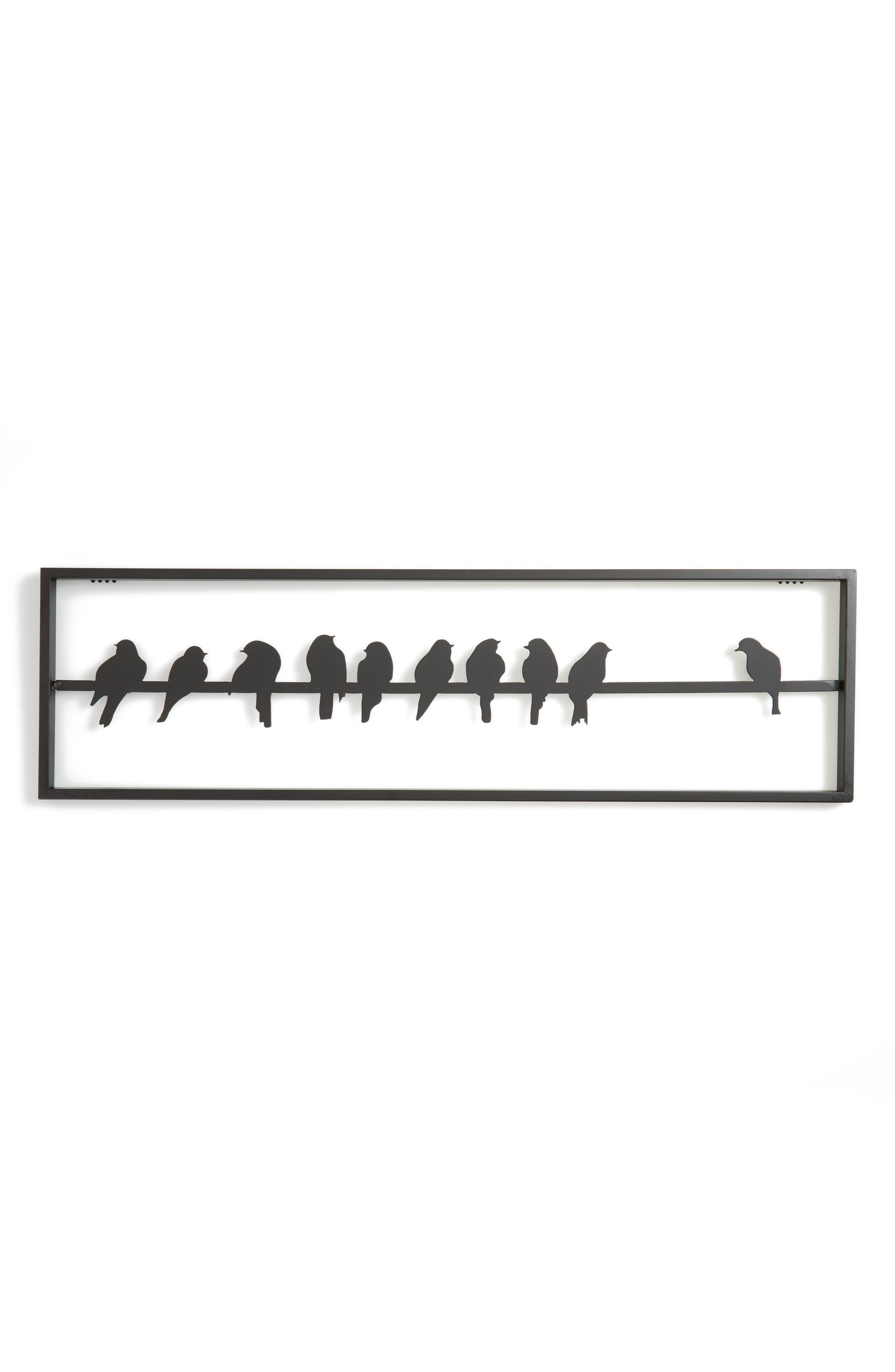 Home Crow Wall Art,                         Main,                         color, Black